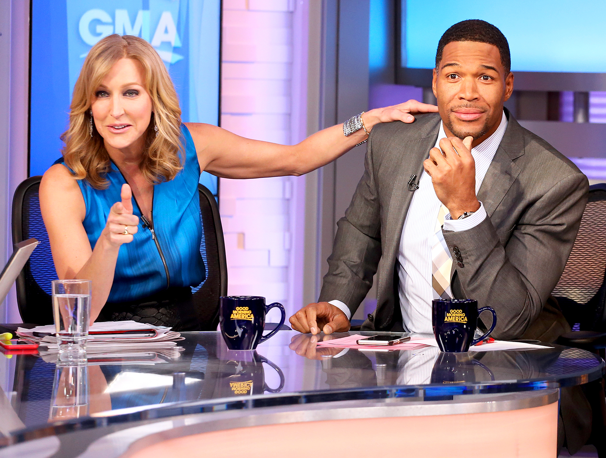 Lara Spencer and Michael Strahan