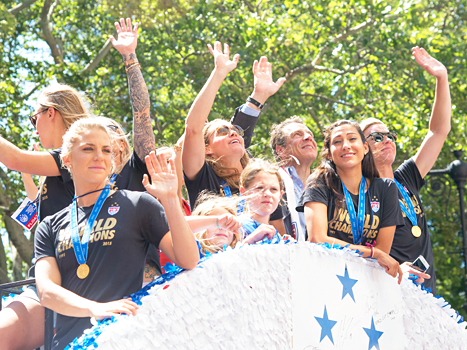 U.S. Women's Soccer Players at Parade