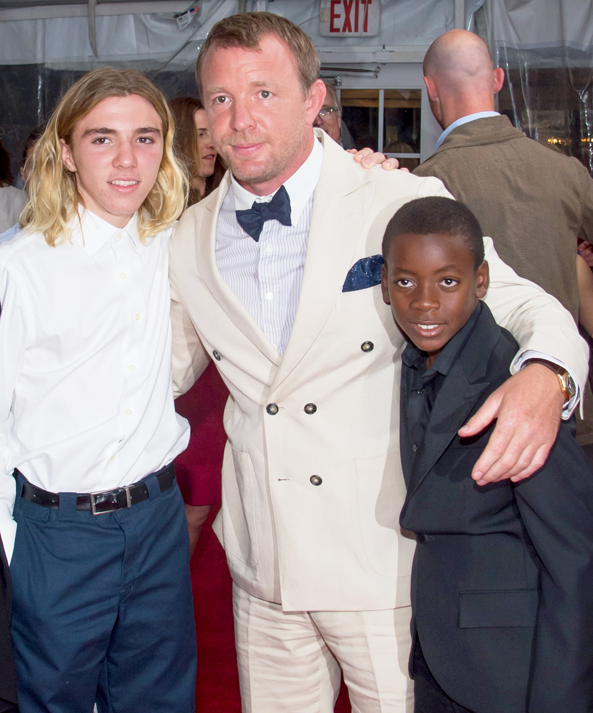 Rocco Ritchie, Guy Ritchie and David Ritchie
