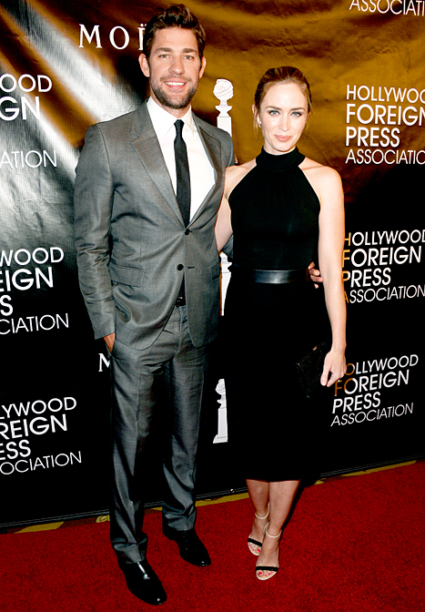 John Krasinski and Emily Blunt
