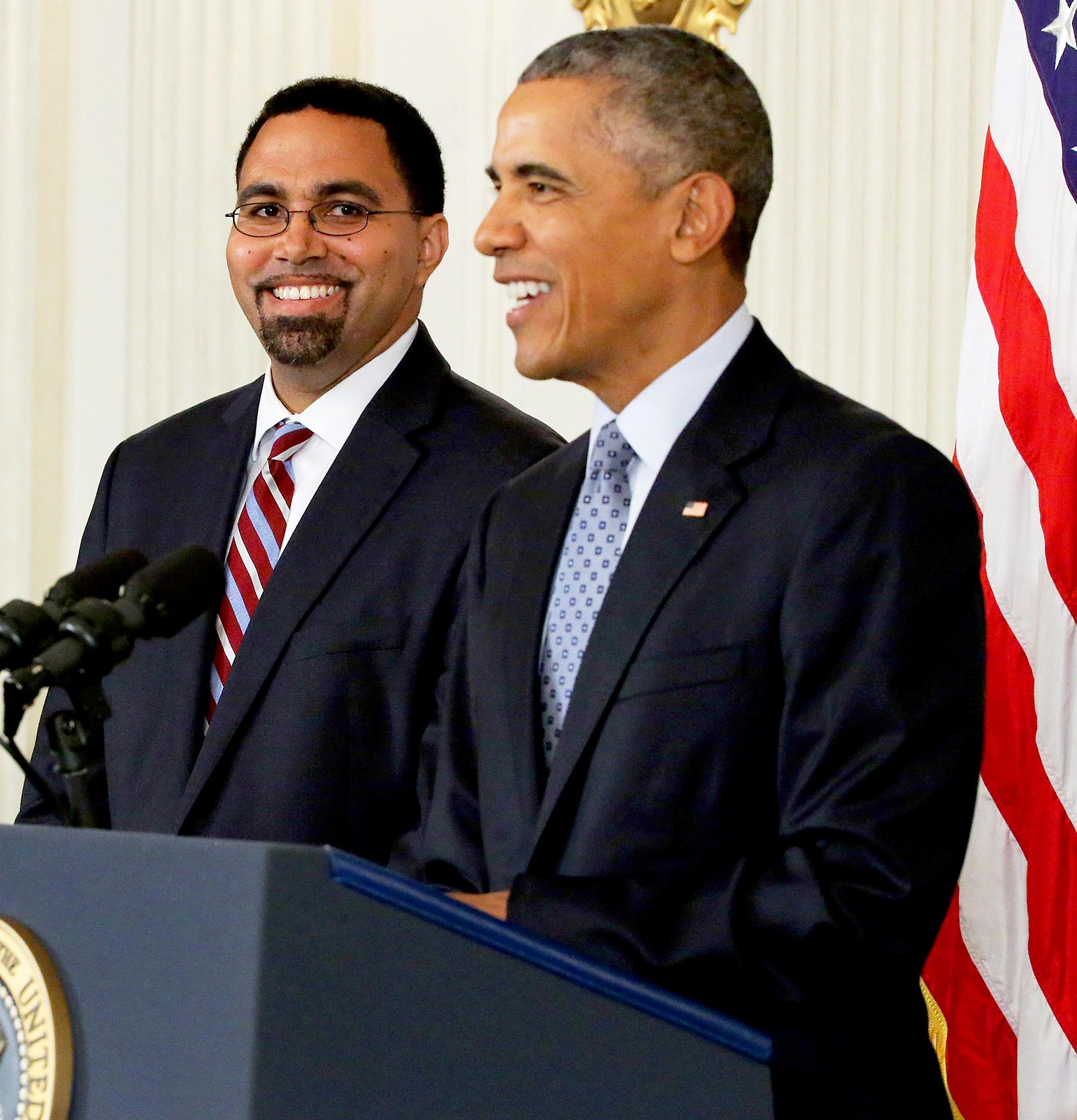 John King and Barack Obama