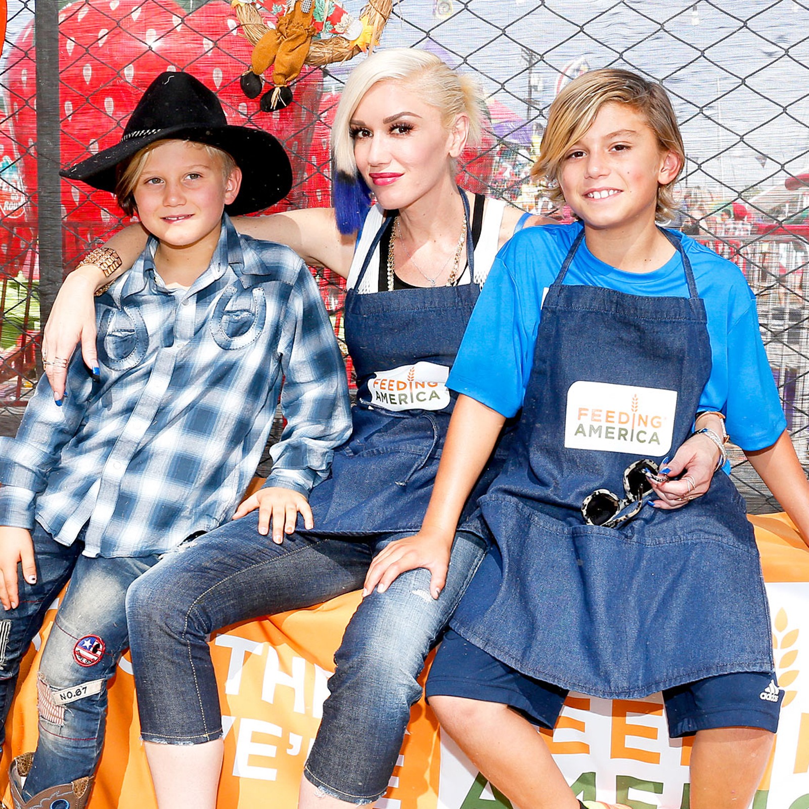 Zuma Rossdale, Gwen Stefani and Kingston Rossdale