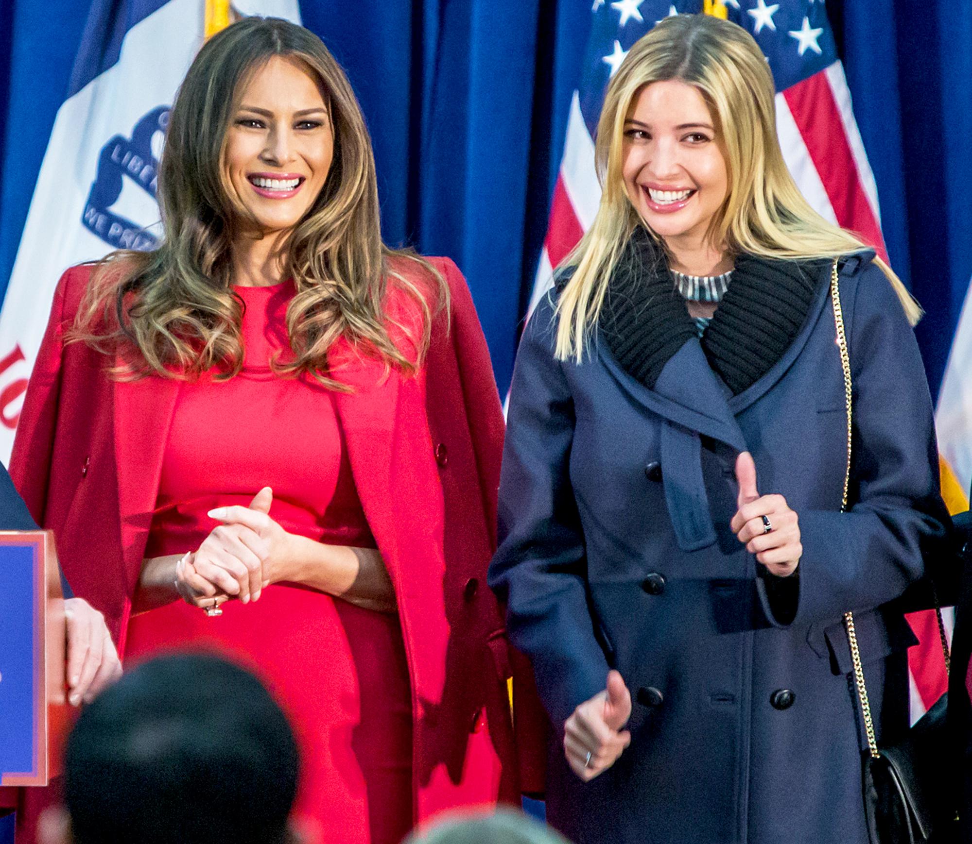 Melania Trump and Ivanka Trump