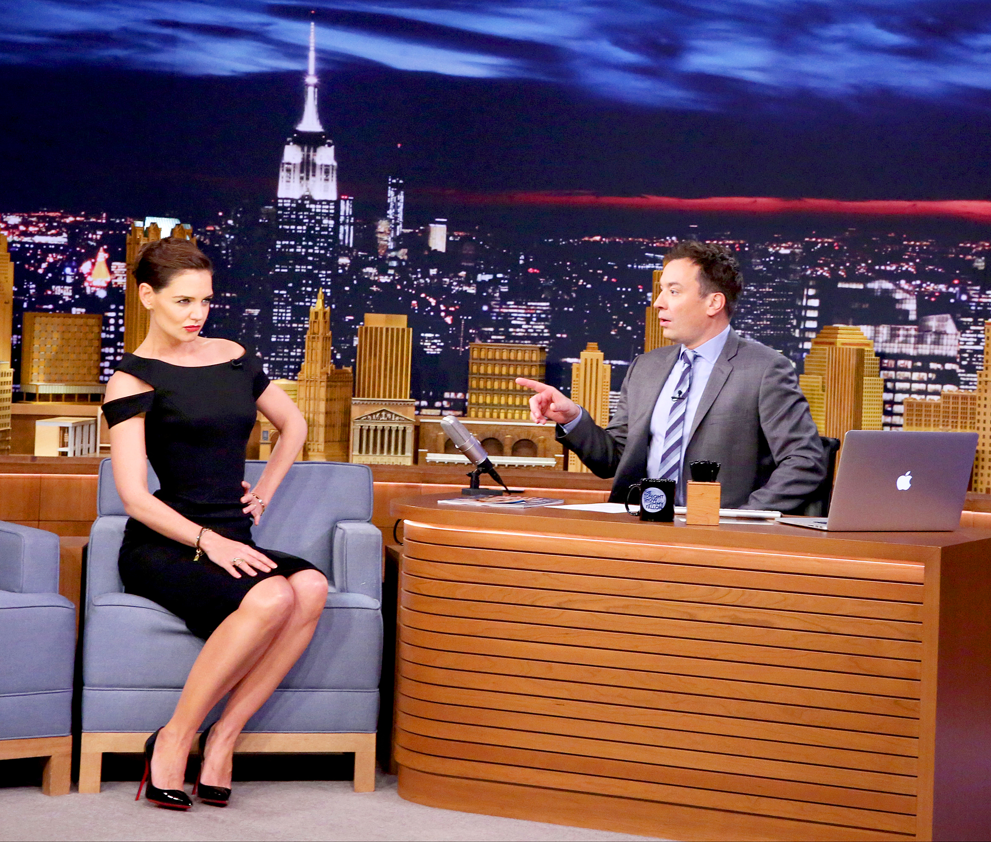 Katie Holmes and Jimmy Fallon