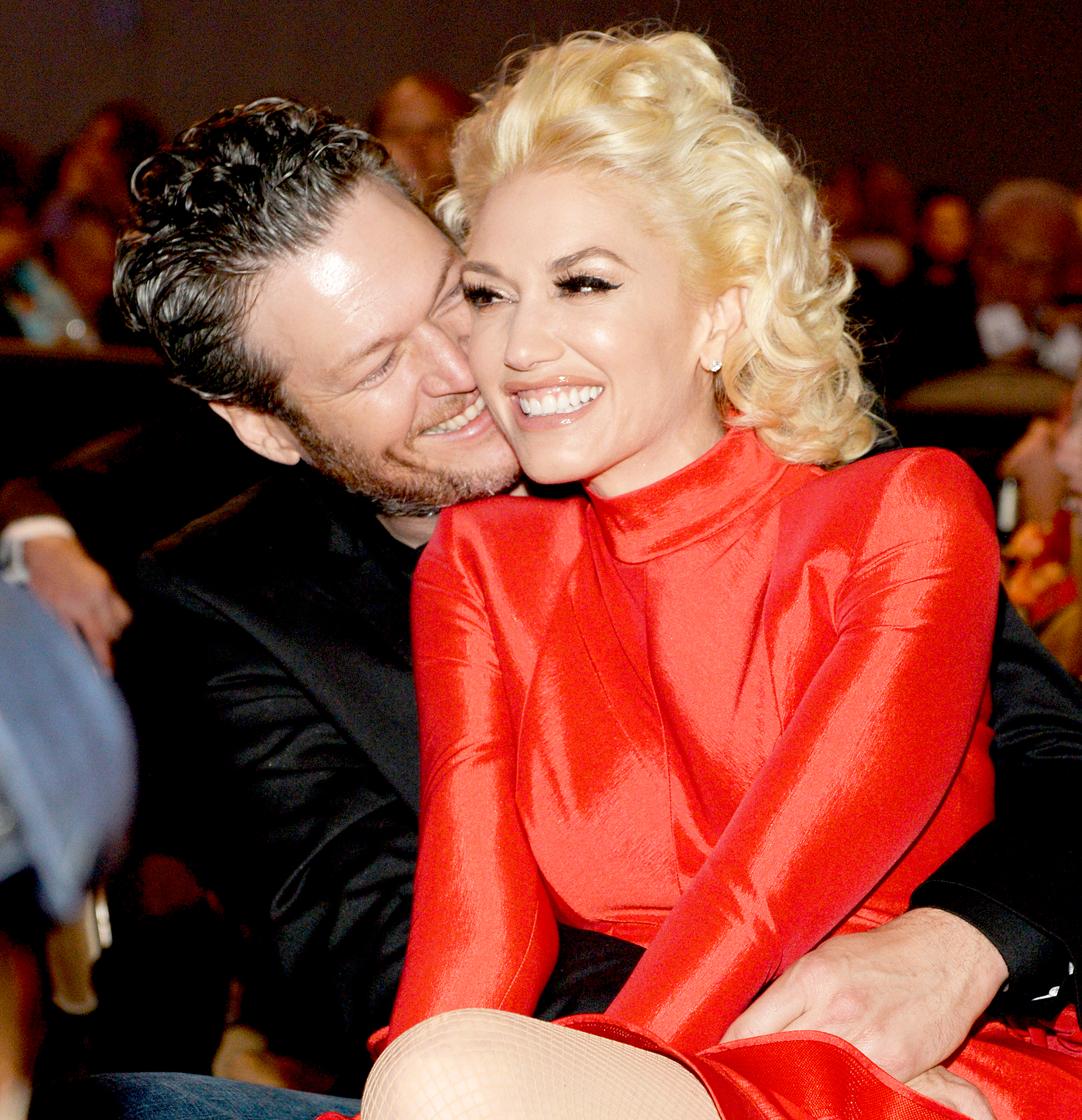 Gwen Stefani defends Blake Shelton's title as