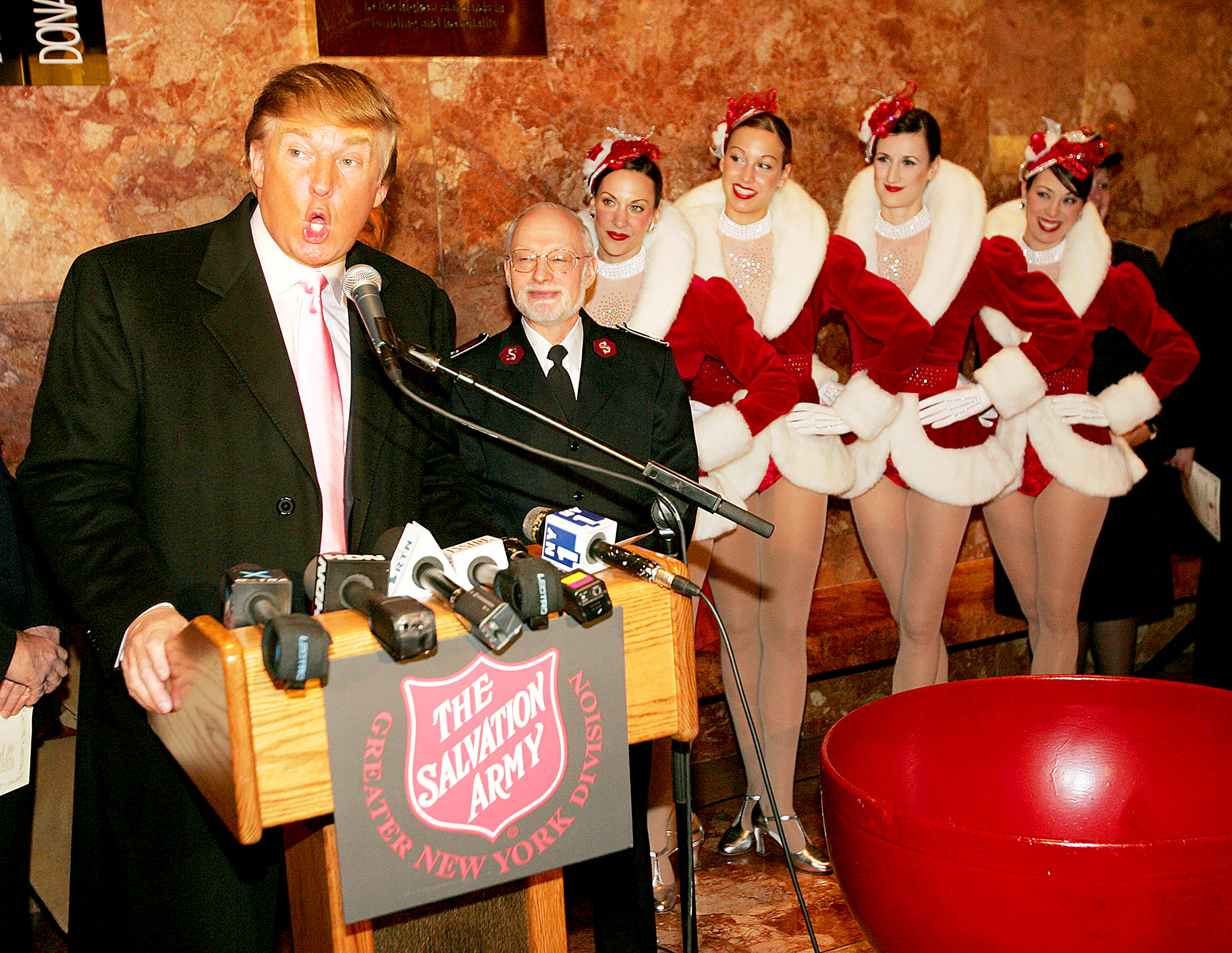 Donald Trump and The Rockettes