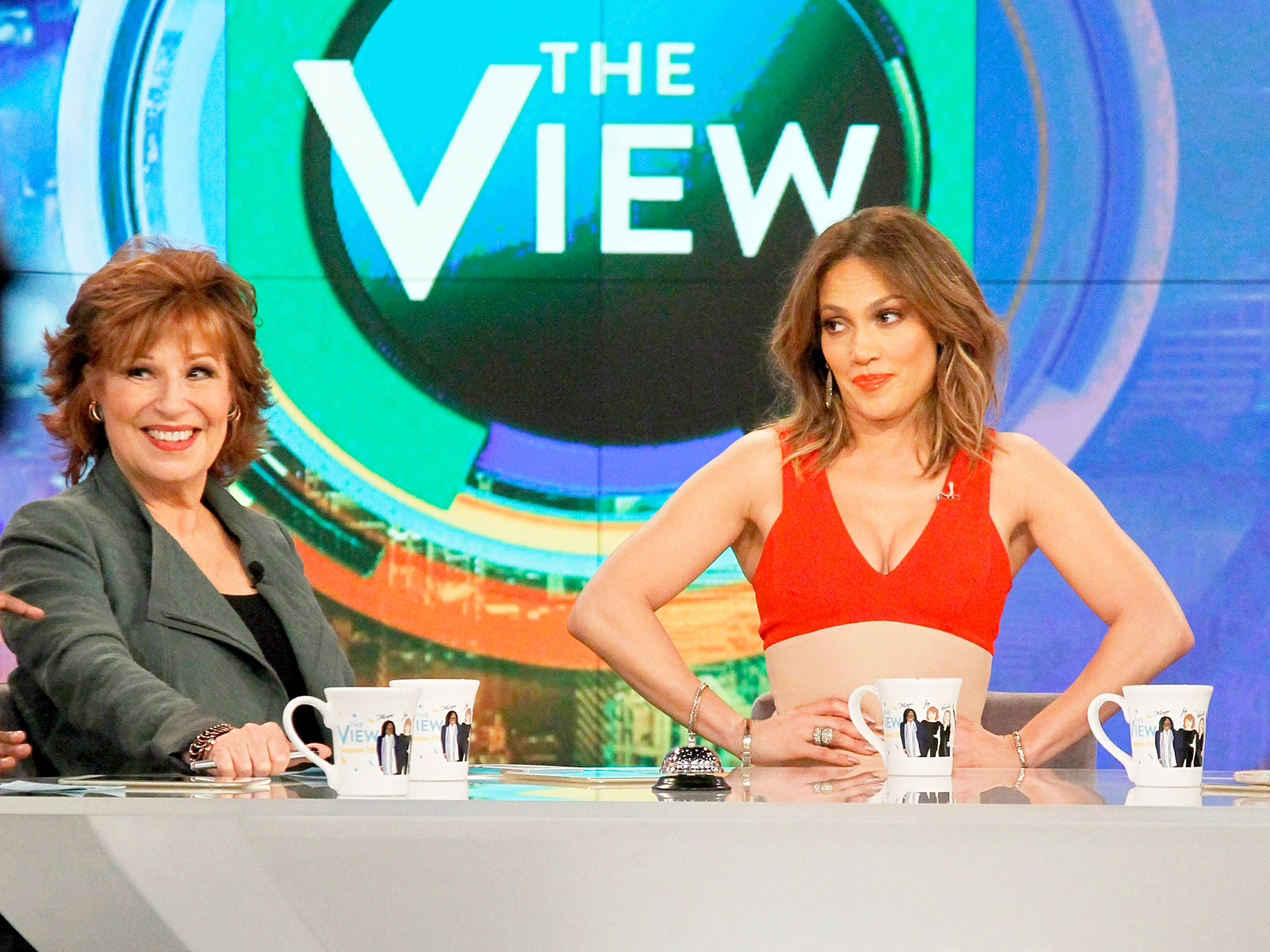 Jennifer Lopez and Joy Behar