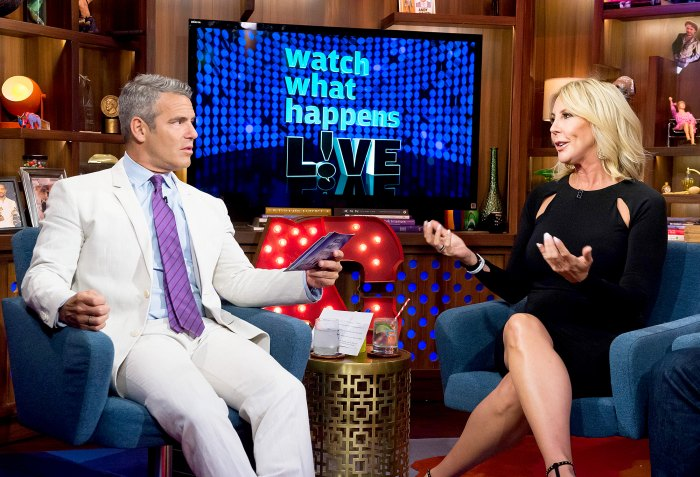 Andy Cohen with Vicki Gunvalson.