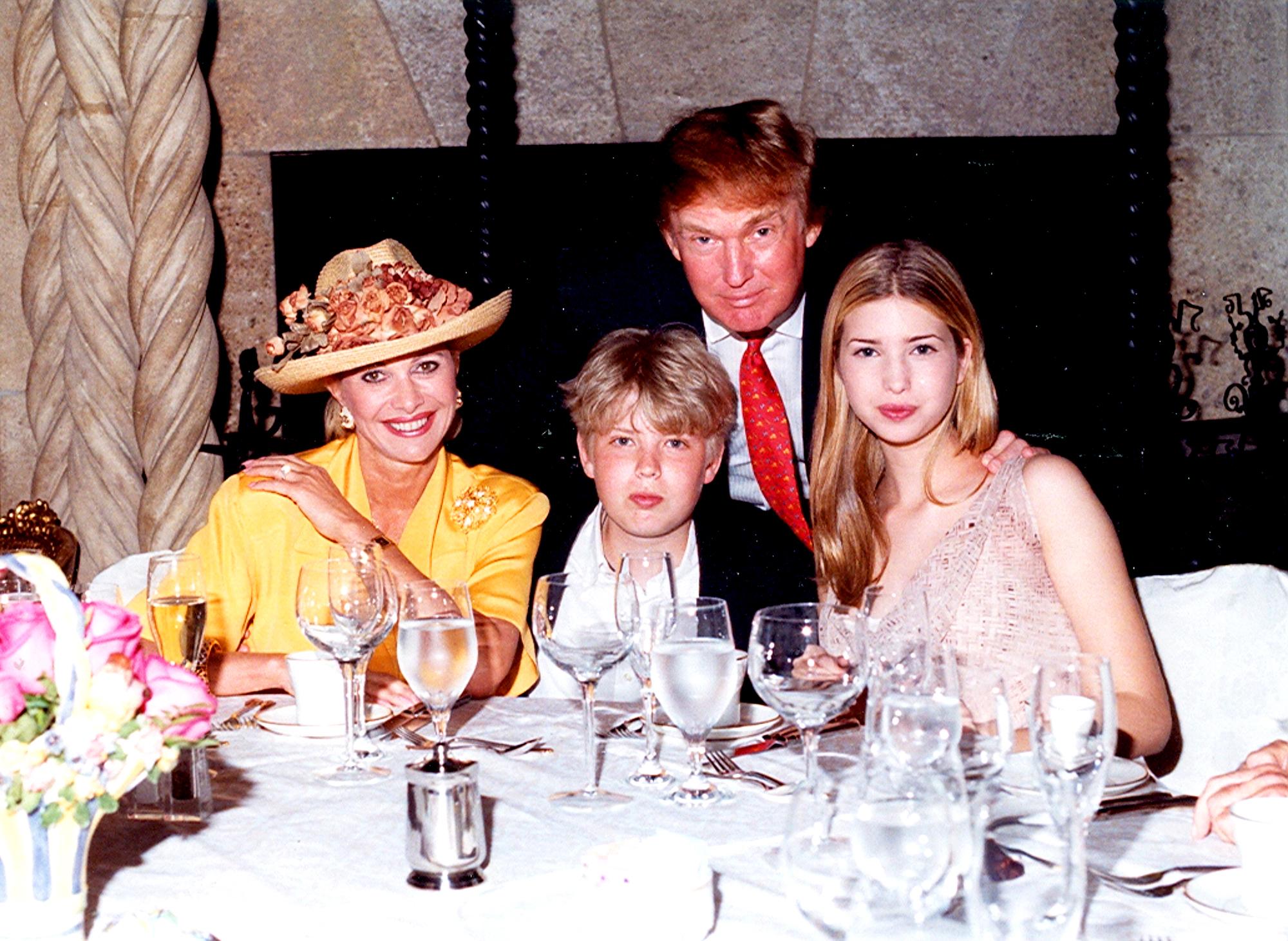 Ivana Trump, Eric Trump, Donald Trump and Ivanka Trump