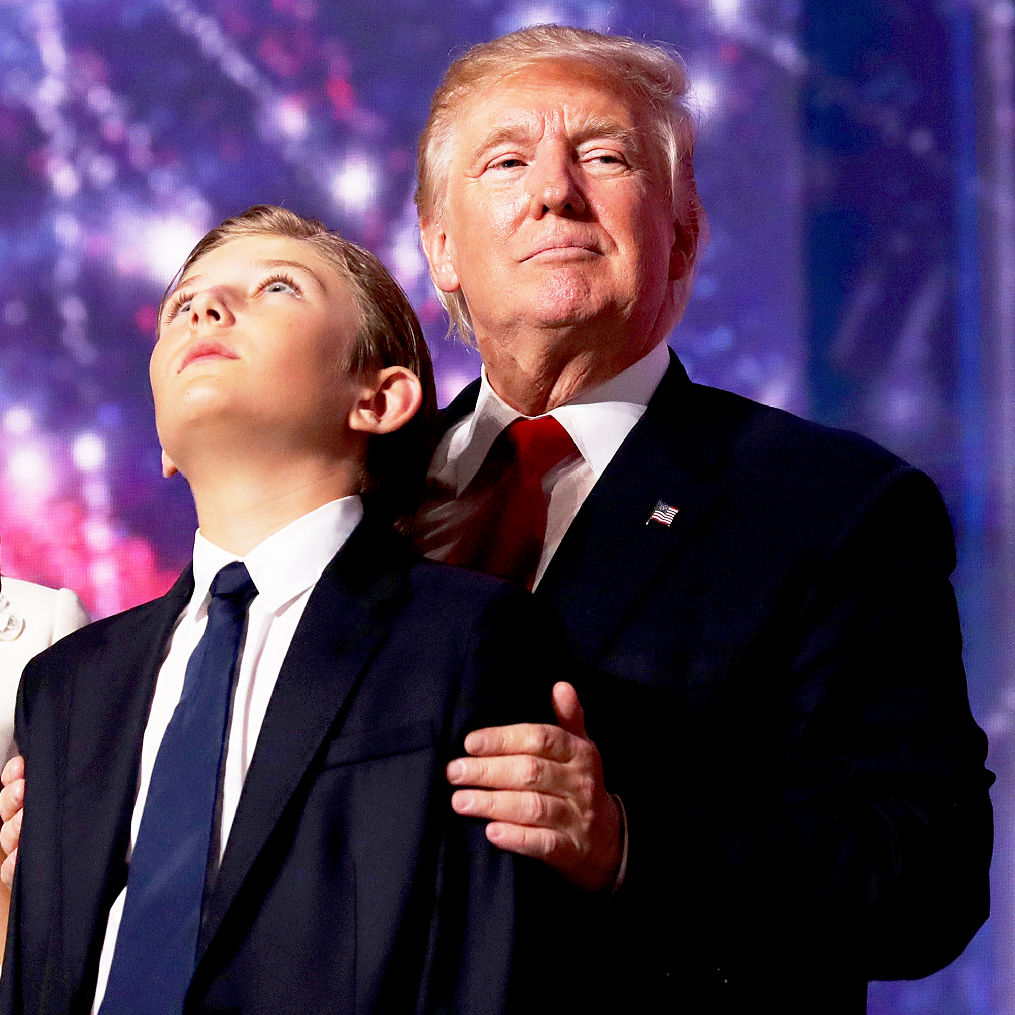 Barron Trump and Donald Trump