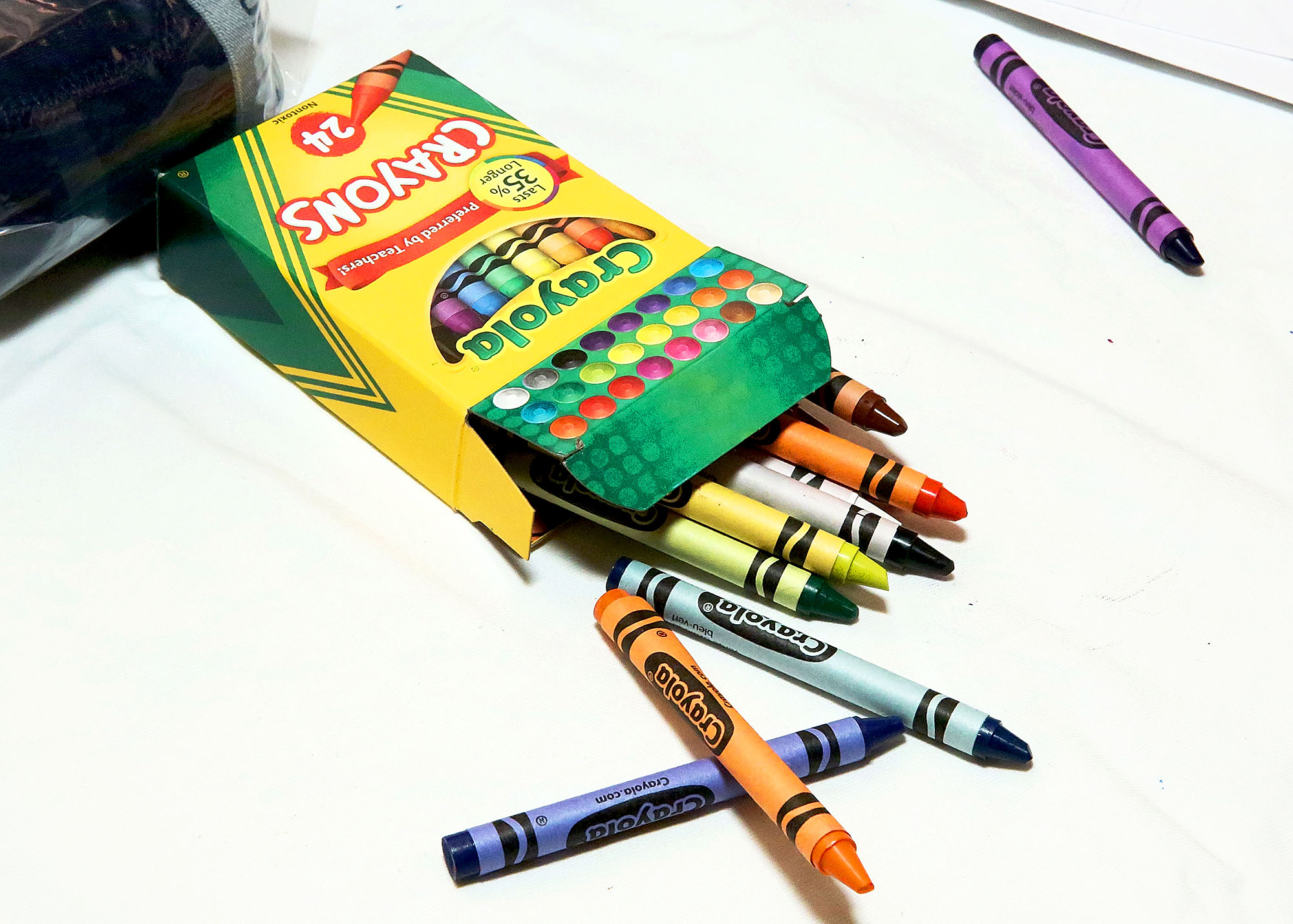 crayola is retiring one of the colors from its 24 crayon box