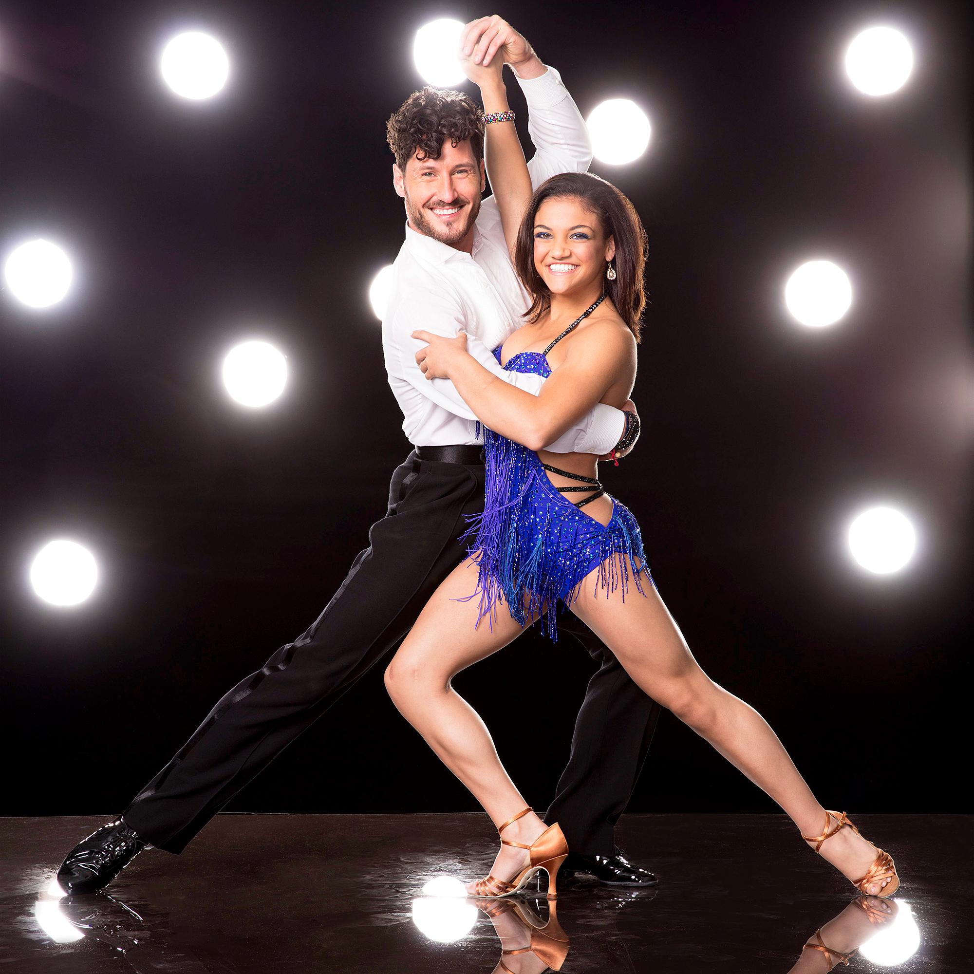 Val Chmerkovskiy and Laurie Hernandez