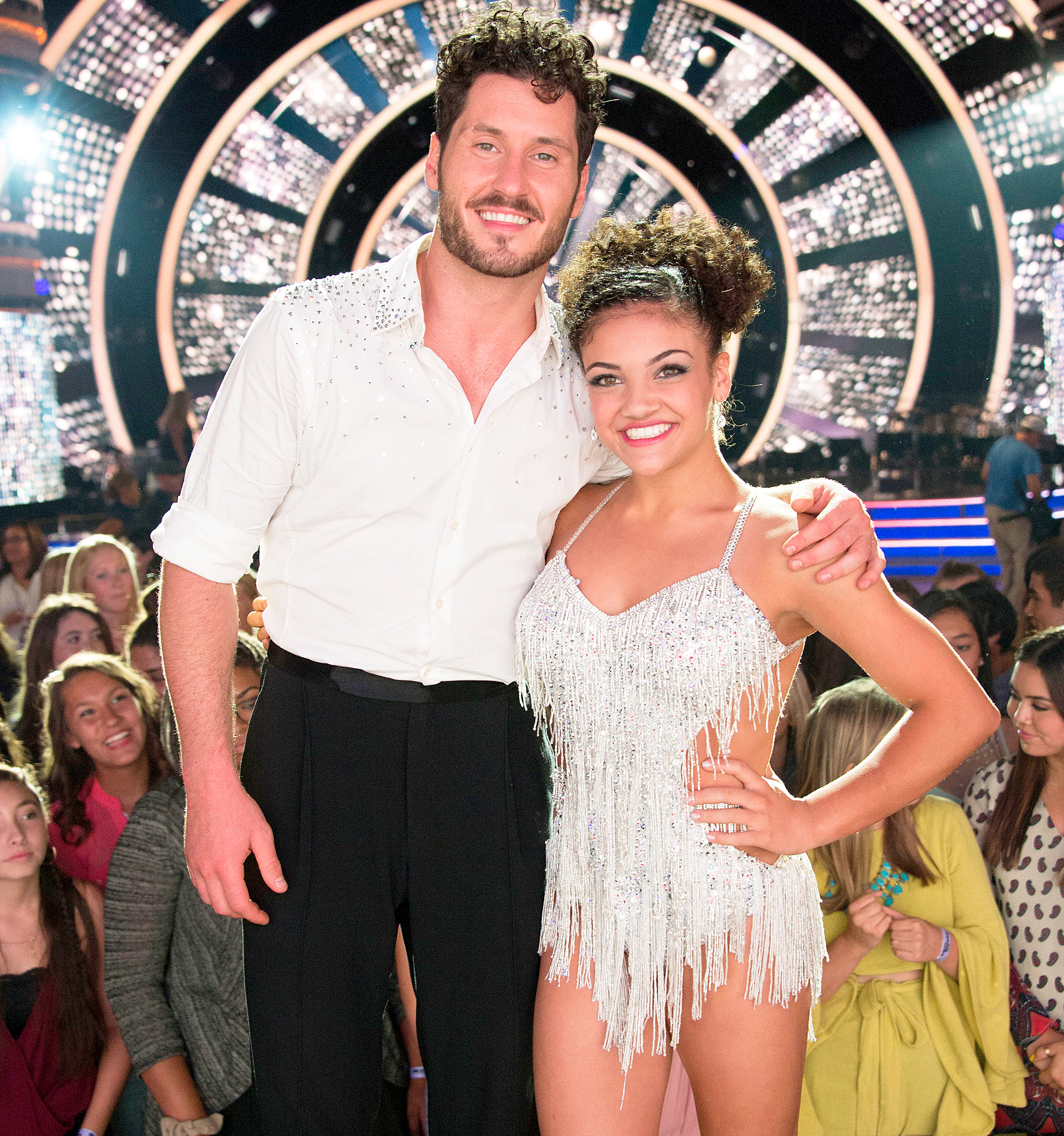 Laurie Hernandez and Val Chmerkovskiy