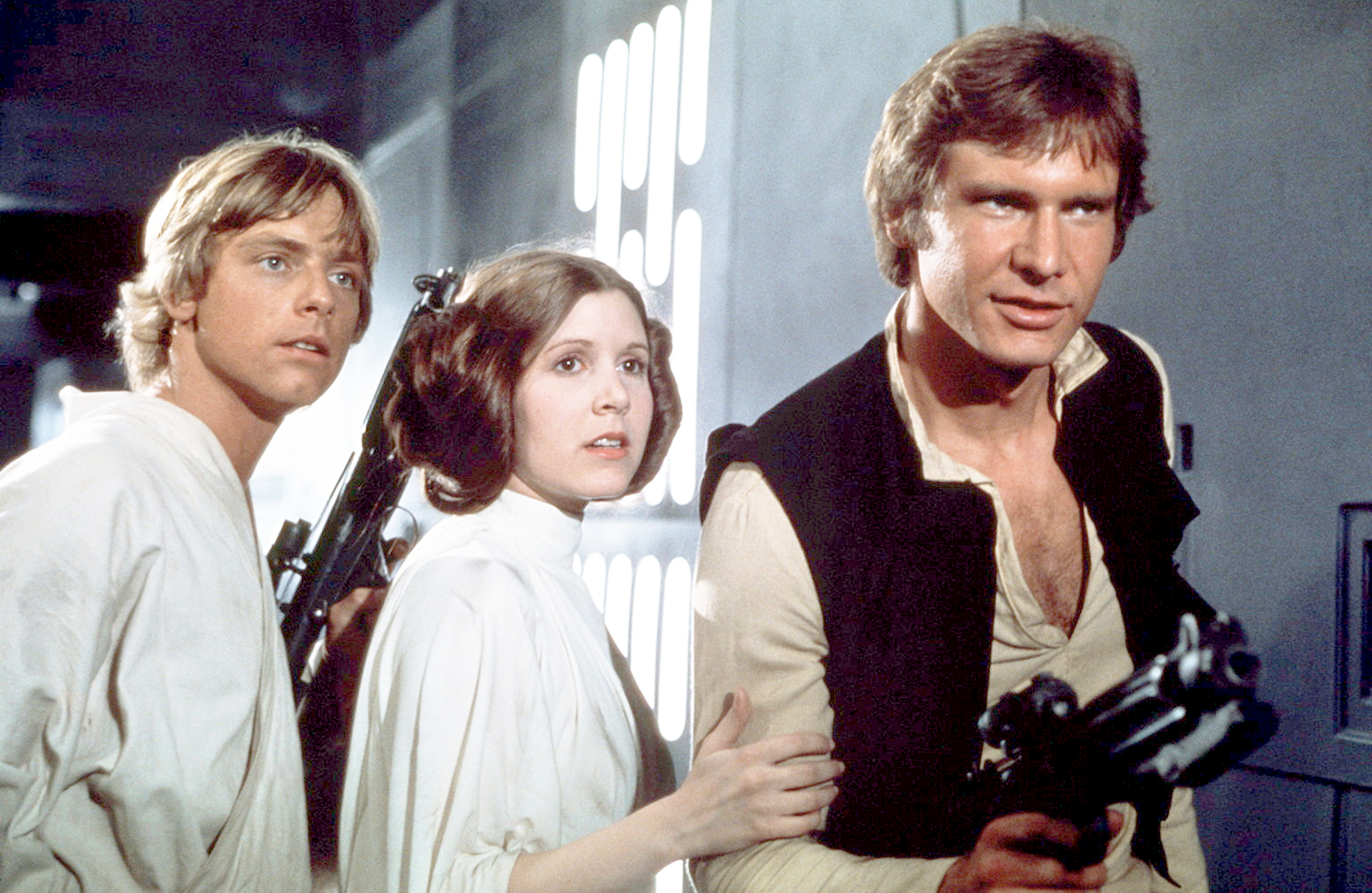 Mark Hamill, Carrie Fisher and Harrison Ford Star Wars