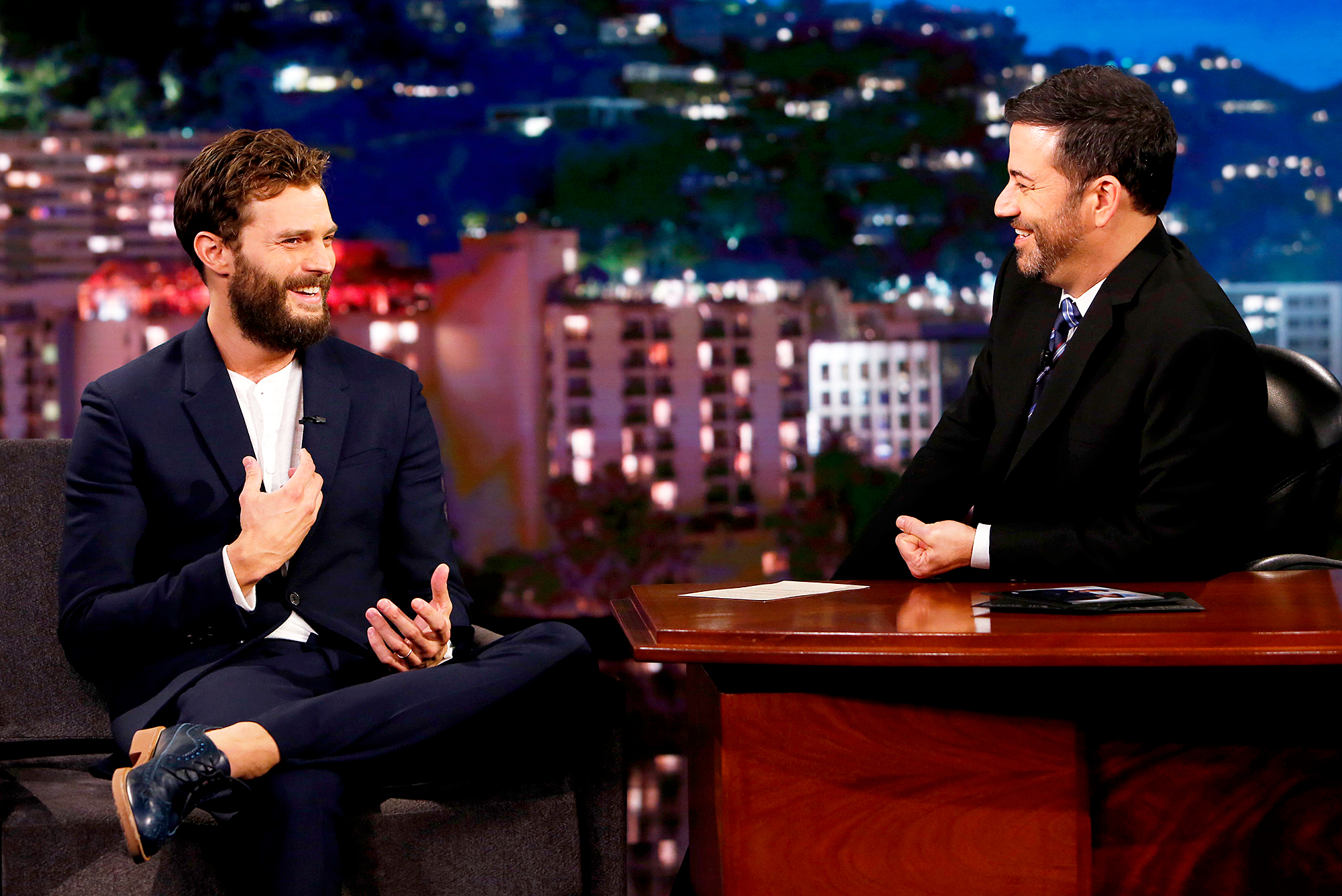 Jamie Dornan and Jimmy Kimmel
