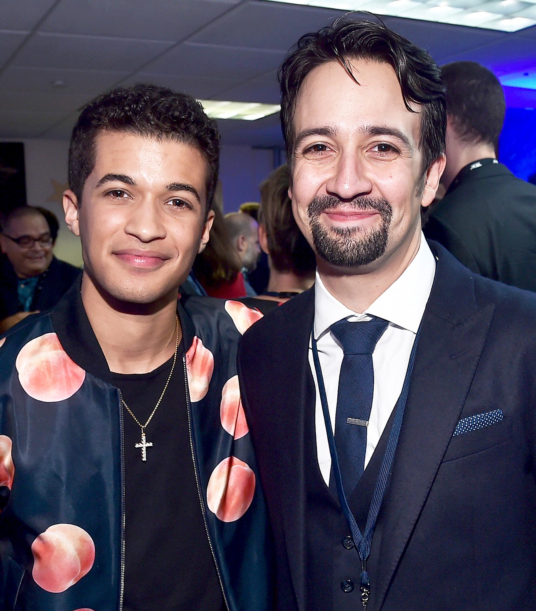 Jordan Fisher and Lin-Manuel Miranda
