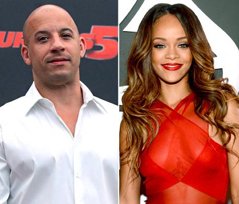 Vin Diesel singing Rihanna