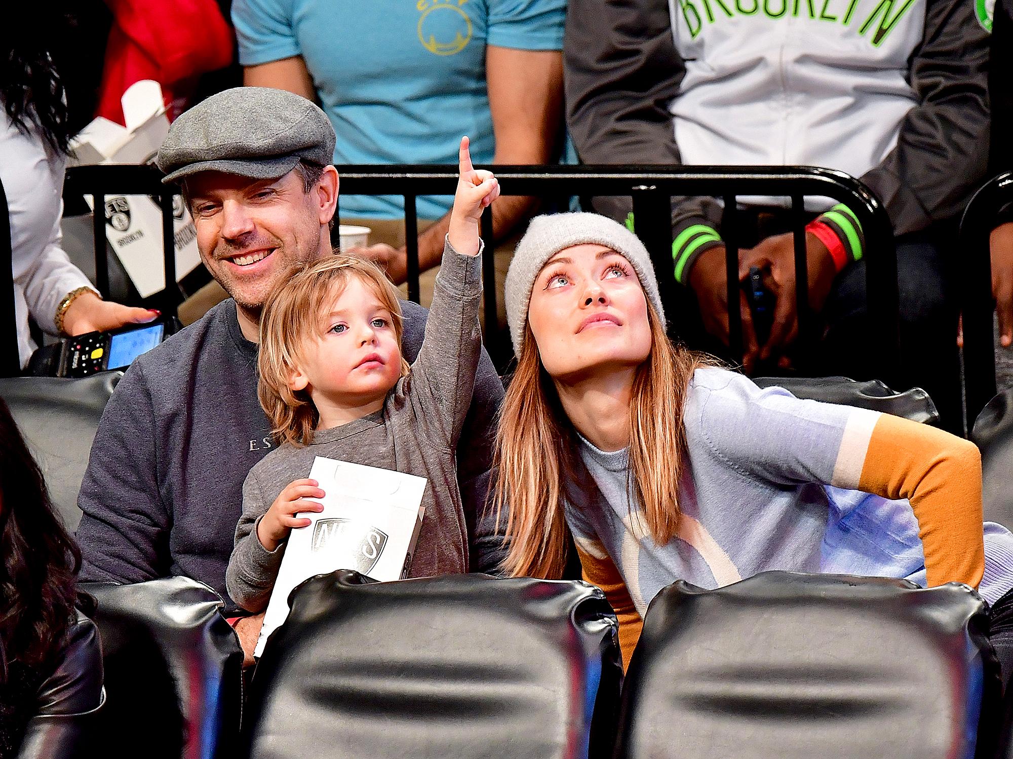 Jason Sudeikis, Olivia Wilde and Otis