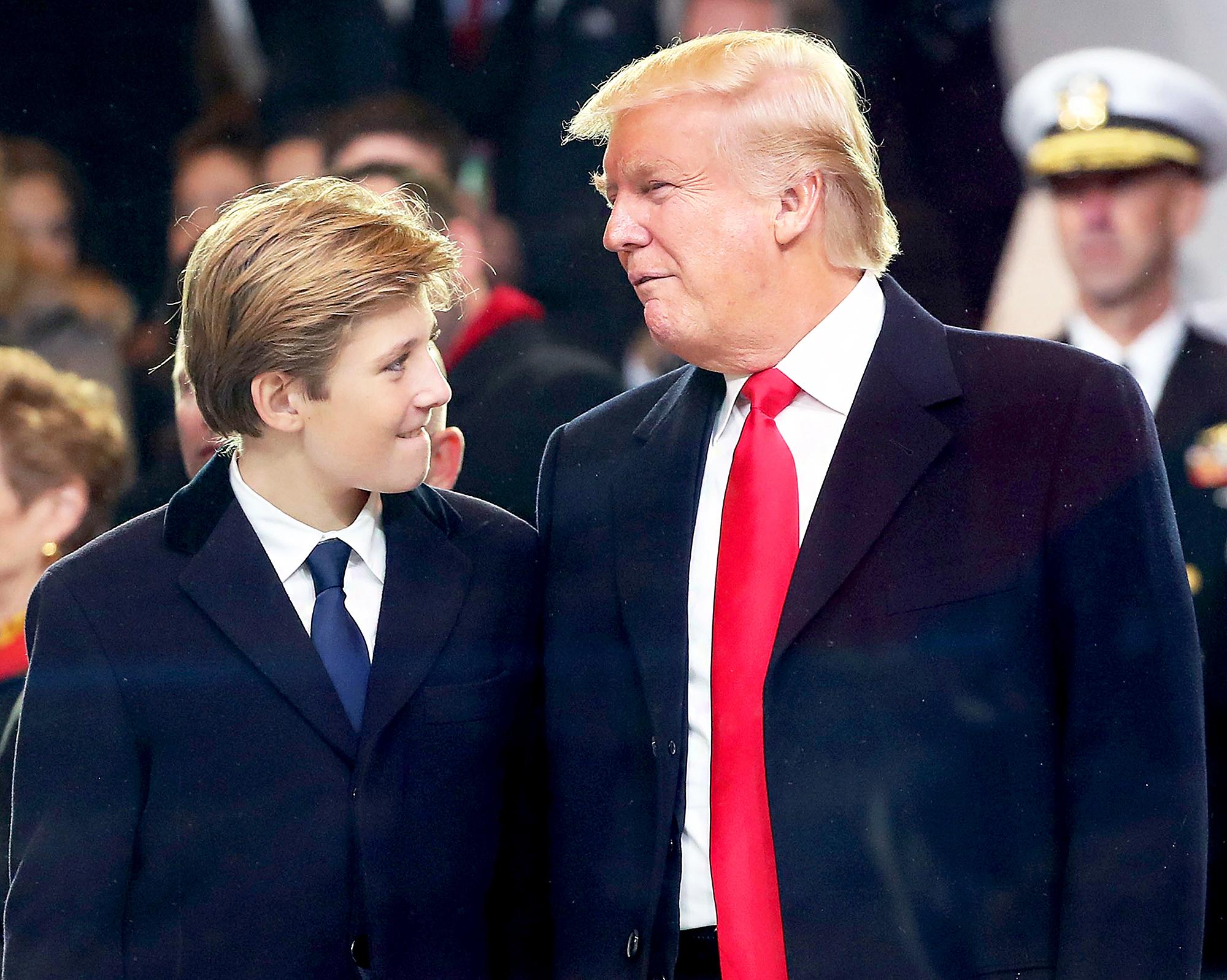 Barron Trump and Donald Trump