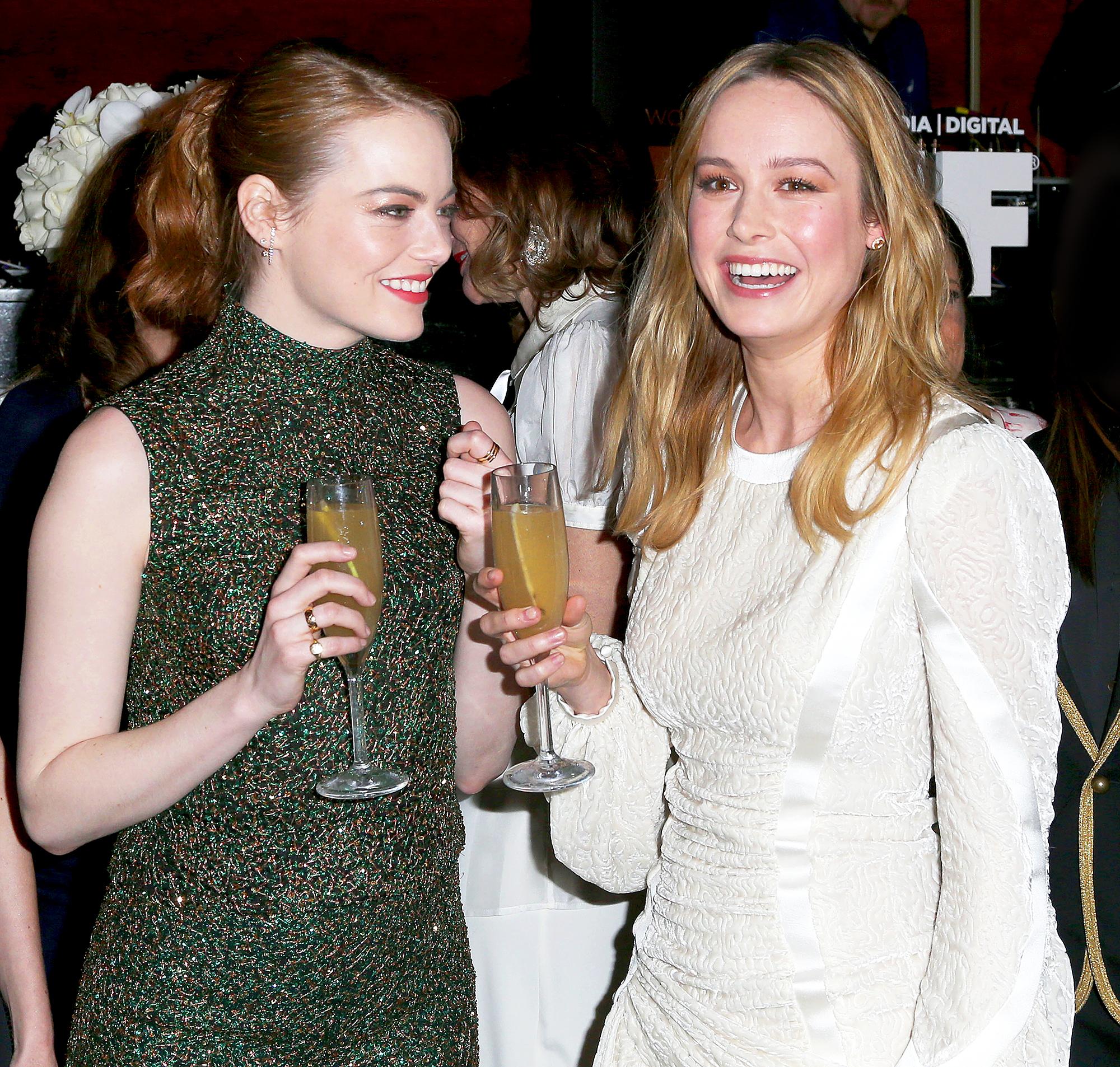 Emma Stone and Brie Larson