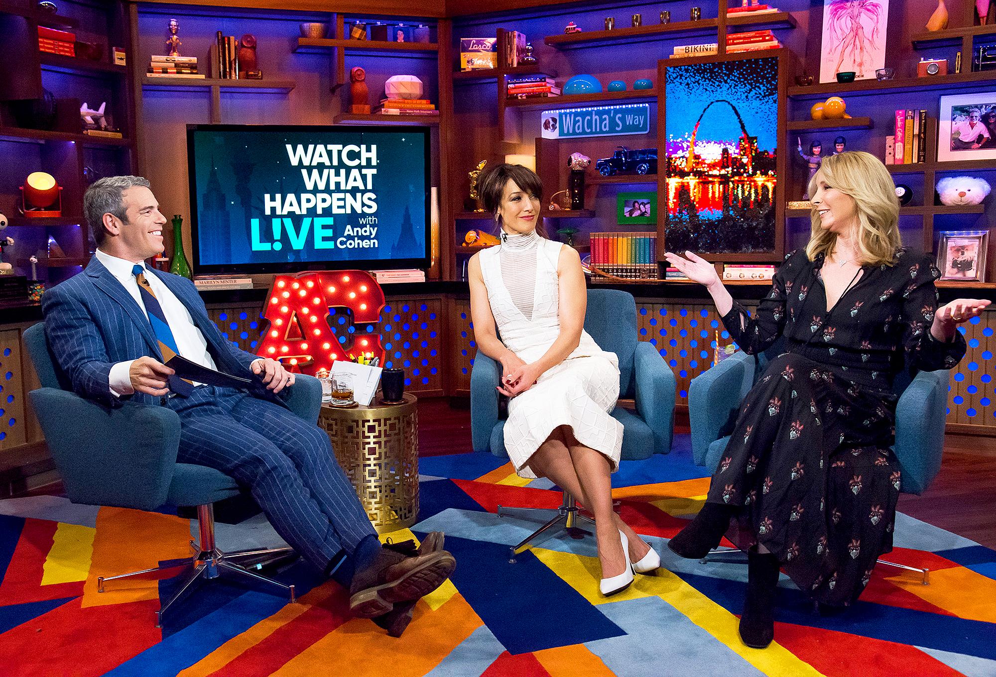Andy Cohen, Jennifer Beals and Lisa Kudrow