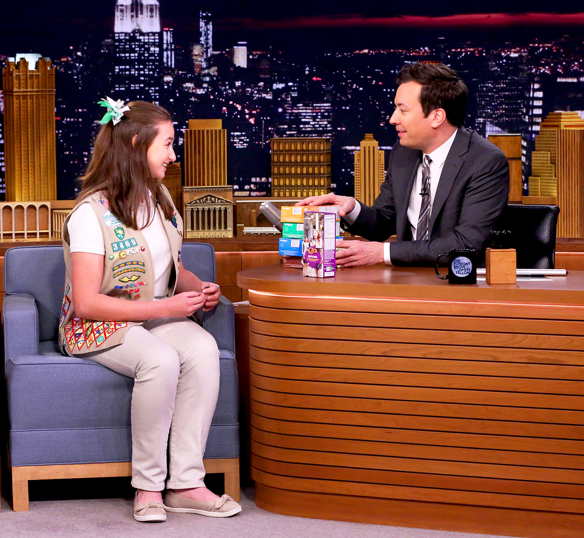 Jimmy Fallon Girl Scout Cookies Katie Francis