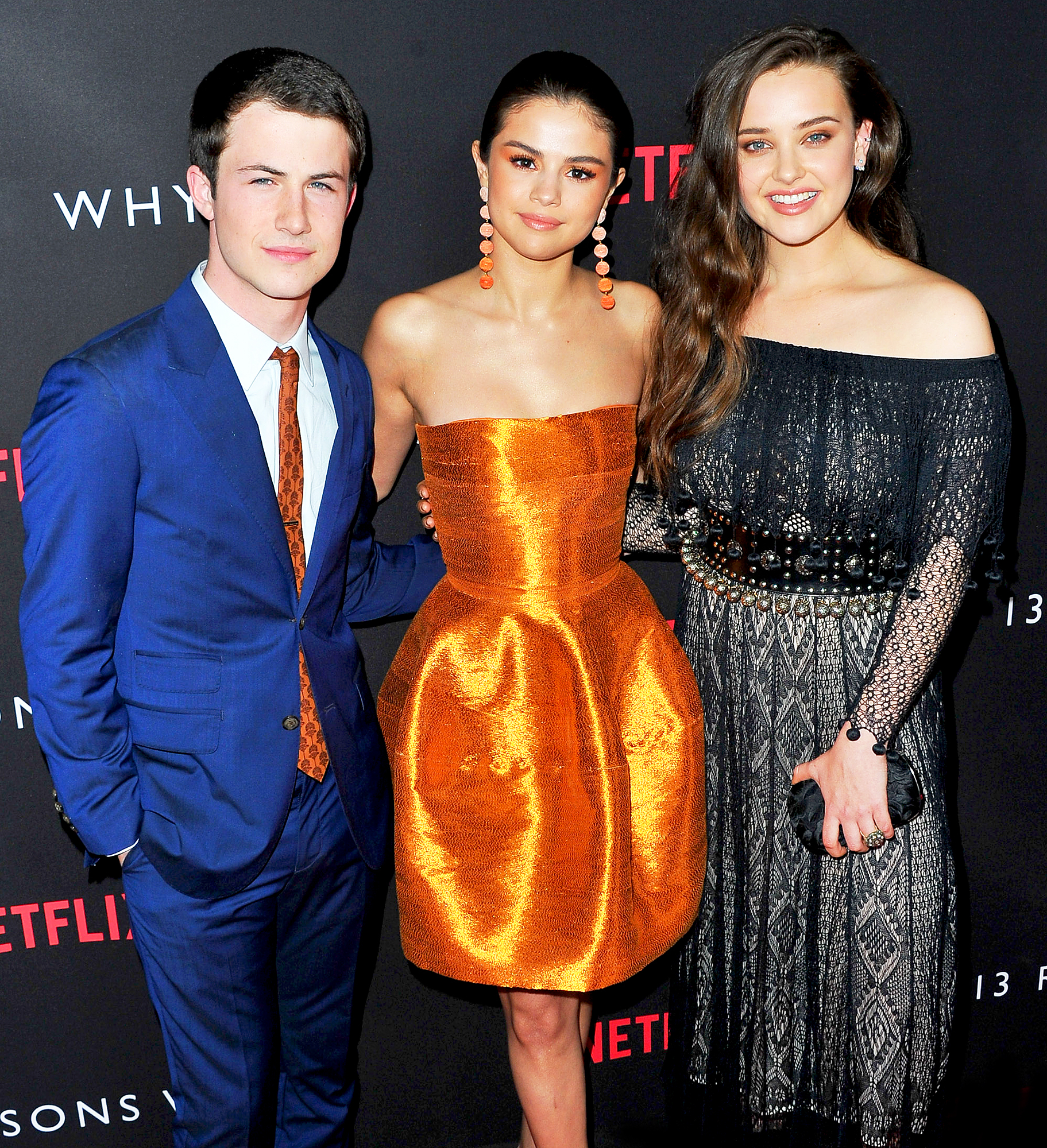 Dylan Minnette, Selena Gomez and Katherine Langford