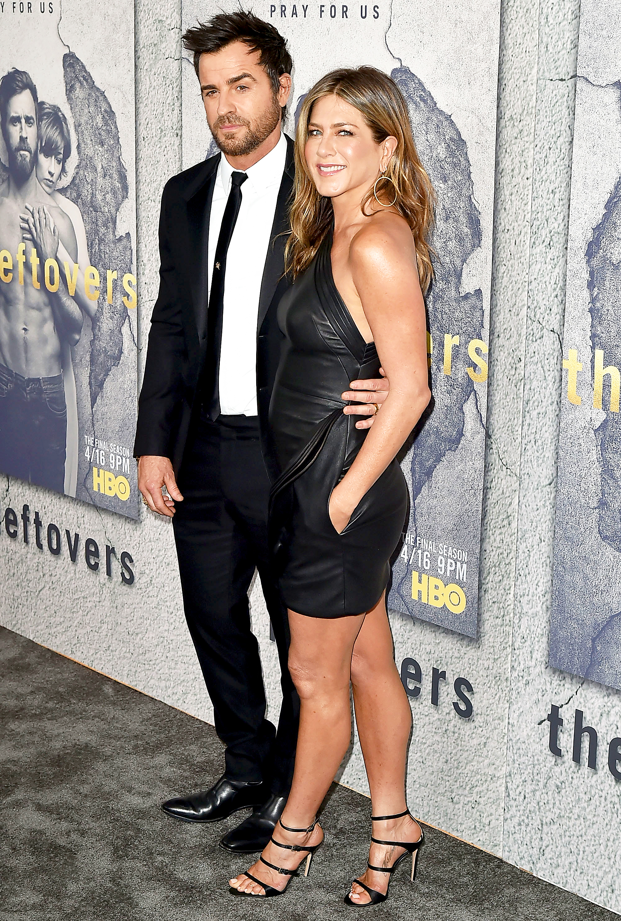 Jen Aniston Justin Theroux Look Happier Than Ever At