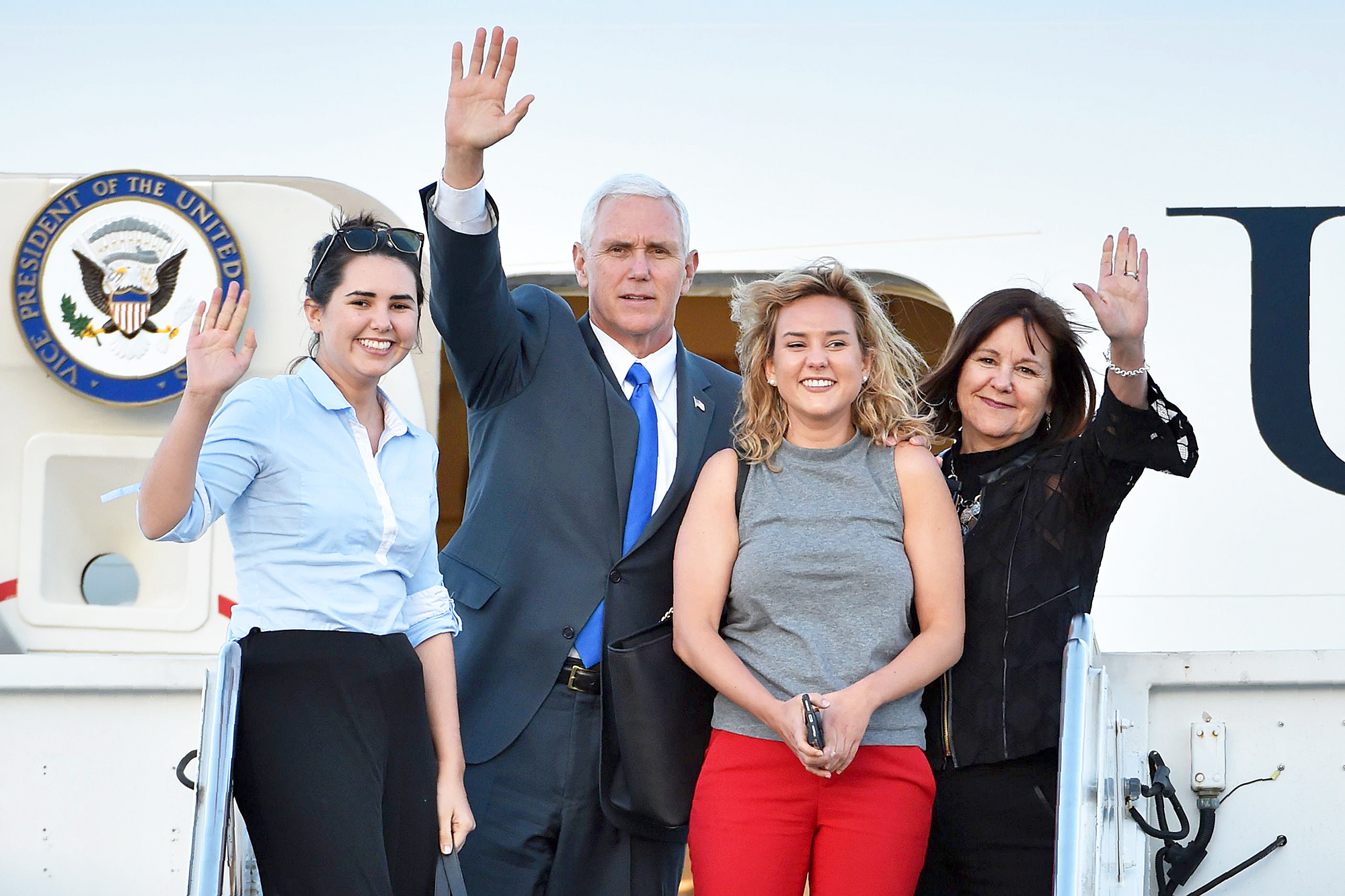 Mike Pence, Karen Pence, Audrey Pence and Charlotte Pence