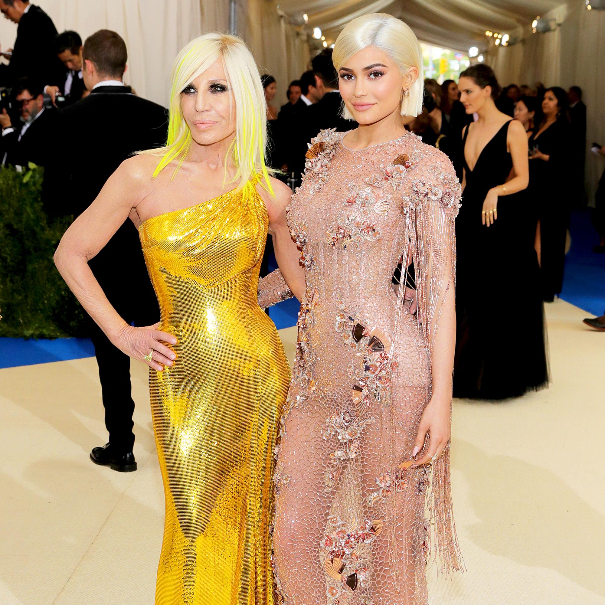 Donatella Versace and Kylie Jenner