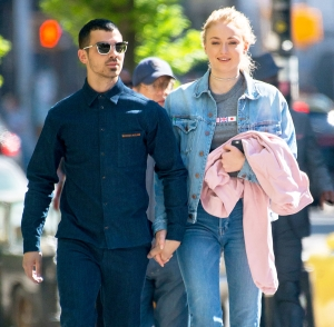 Joe Jonas and Sophie Turner seen in the East Village in New York City on May 3, 2017.