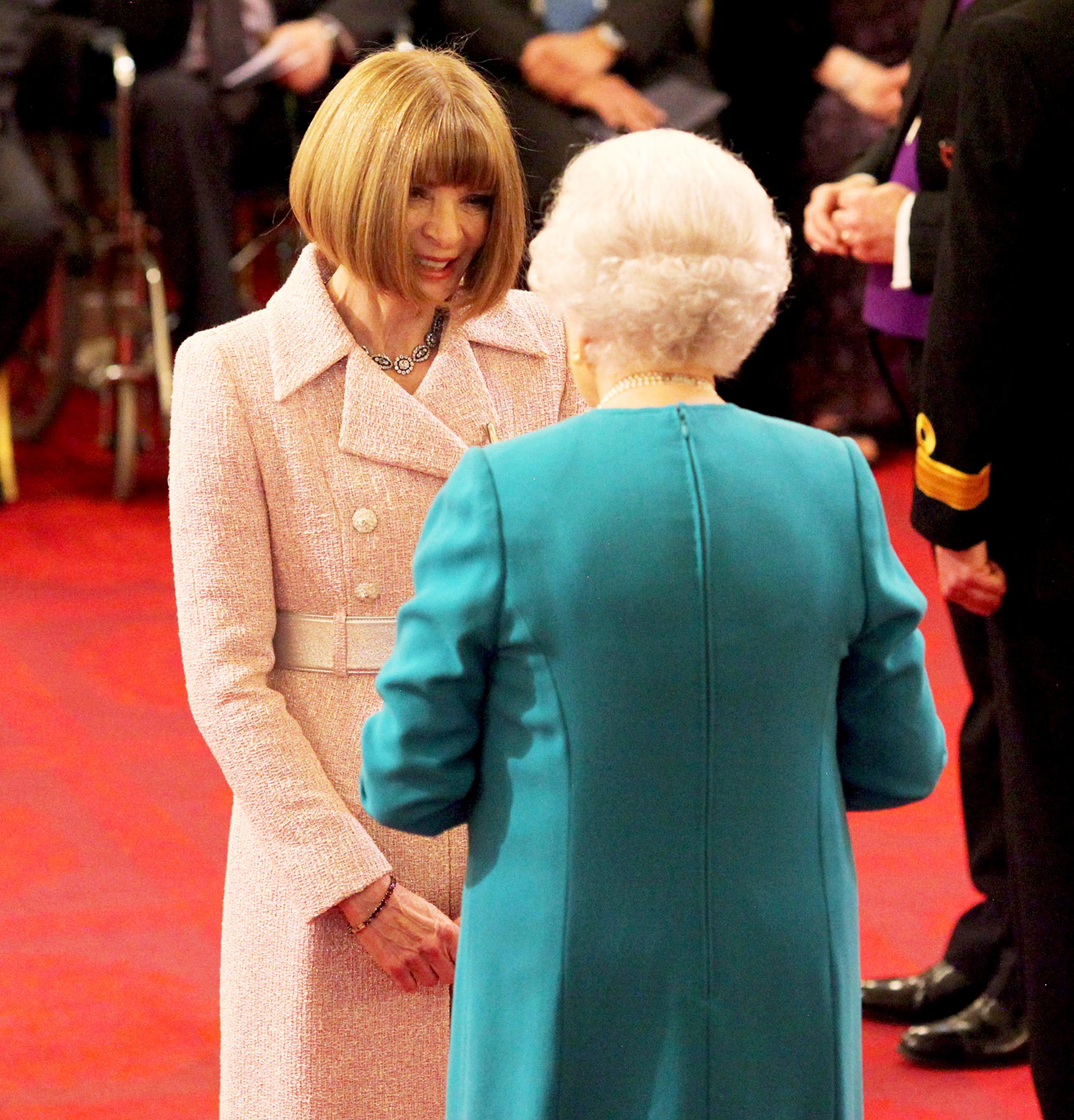 Anna Wintour and Queen Elizabeth II