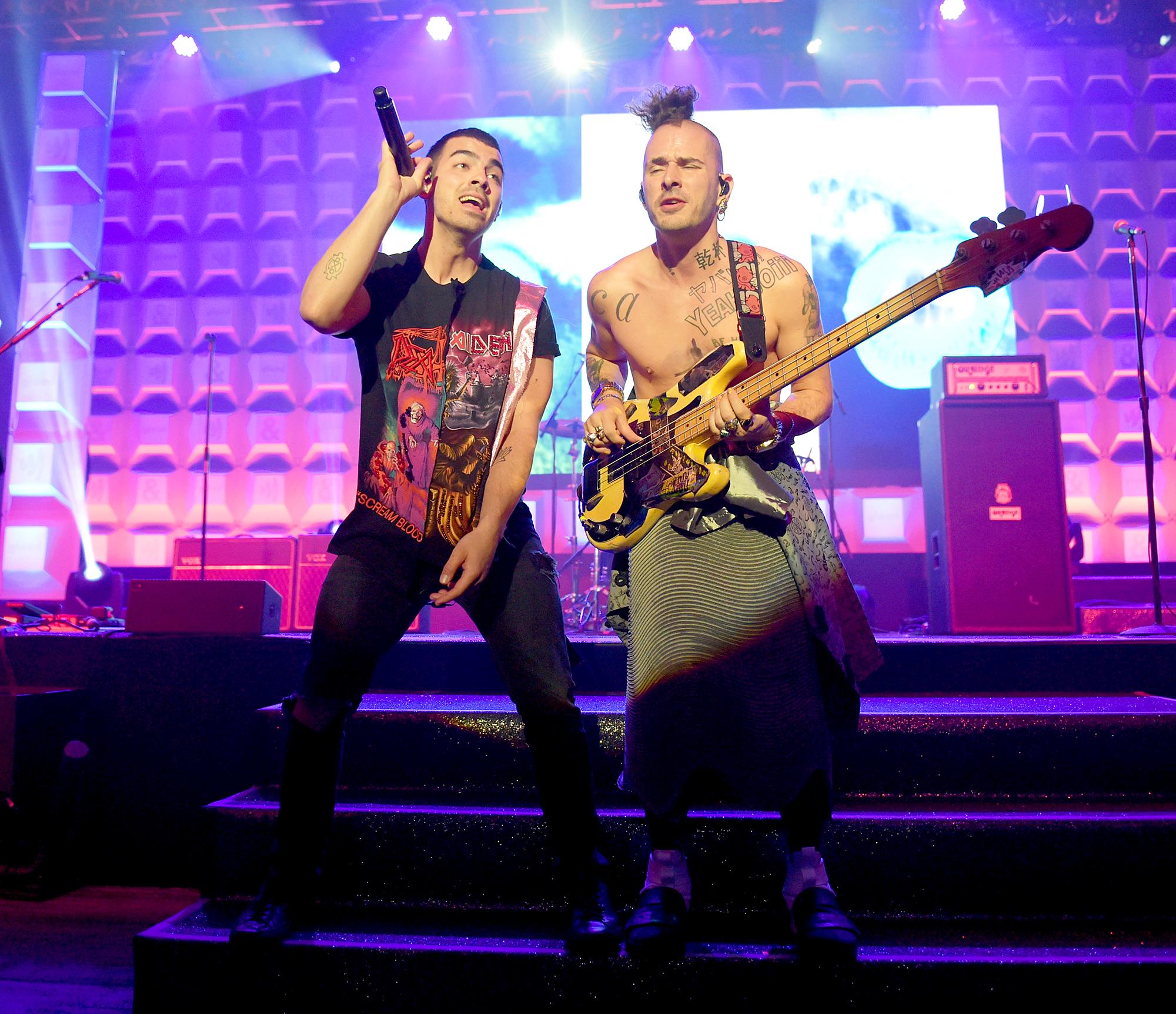 Joe Jonas and Cole Whittle DNCE