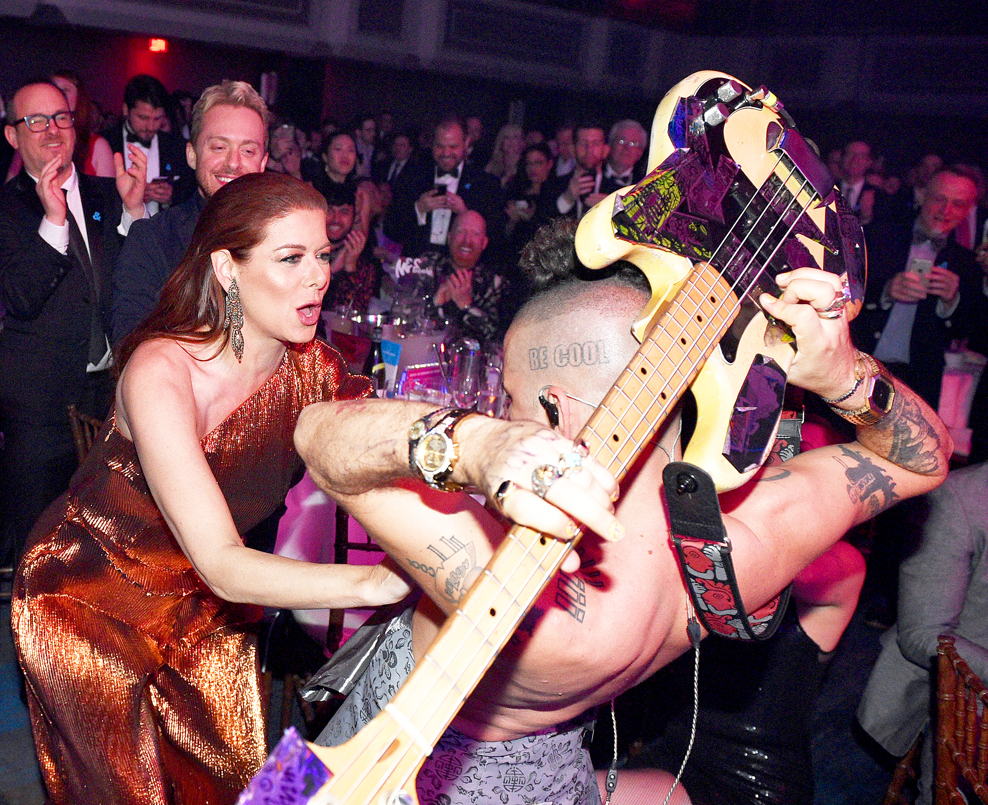 Debra Messing and Cole Whittle DNCE