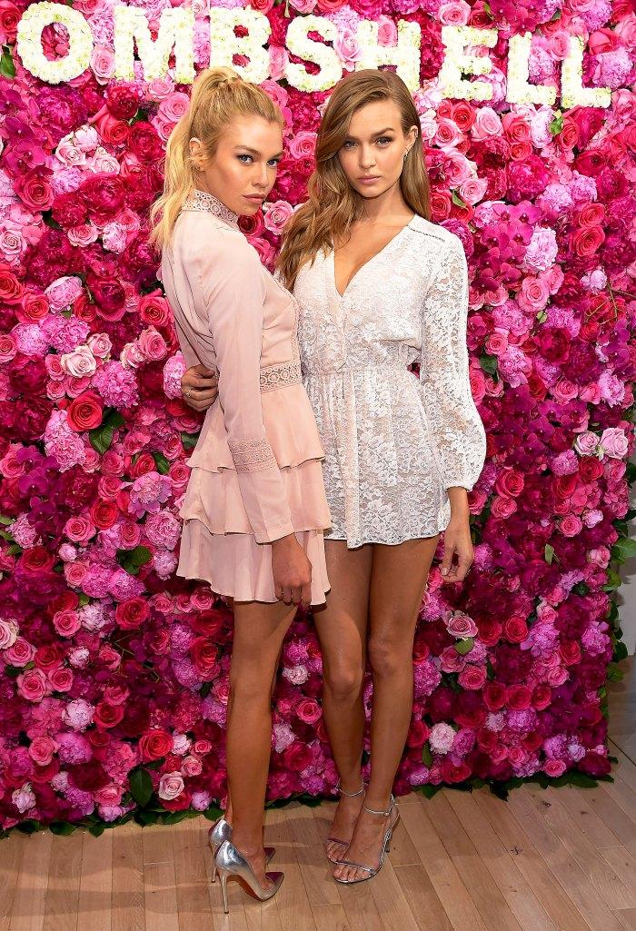 Elsa Hosk and Josephine Skriver at Victorias Secret LOVE