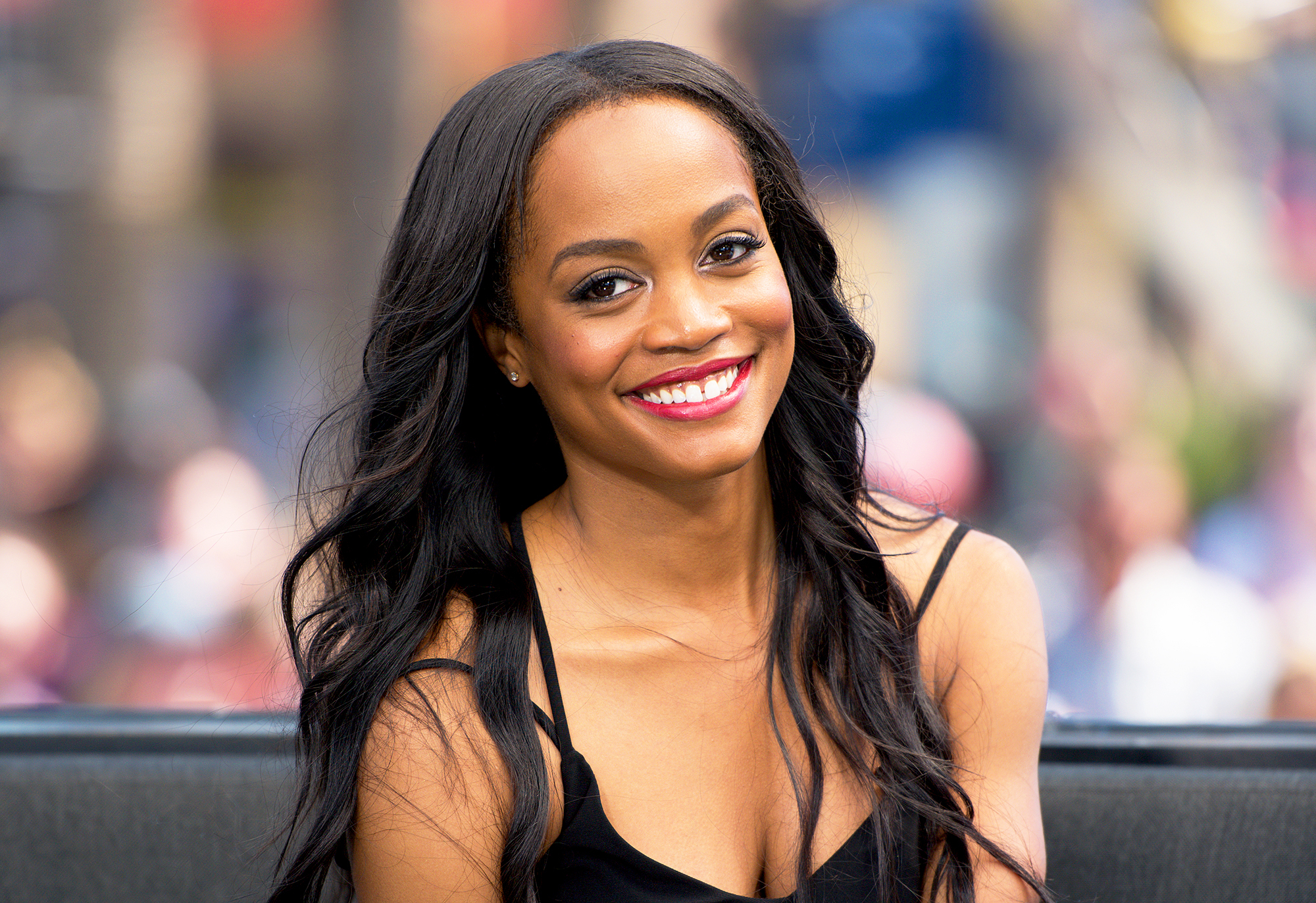 Rachel Lindsay Visits Extra At Universal Studios Hollywood In 2017 Noel Vasquez Getty Images