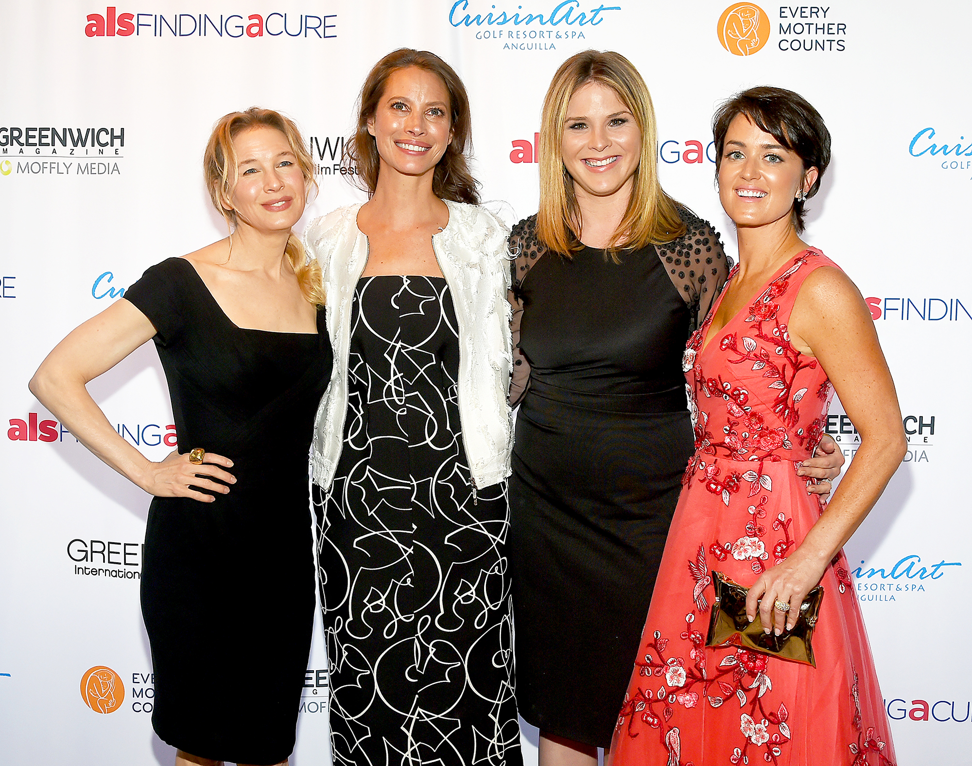 Renee Zellweger, Christy Turlington, Jenna Bush and Wendy Reyes