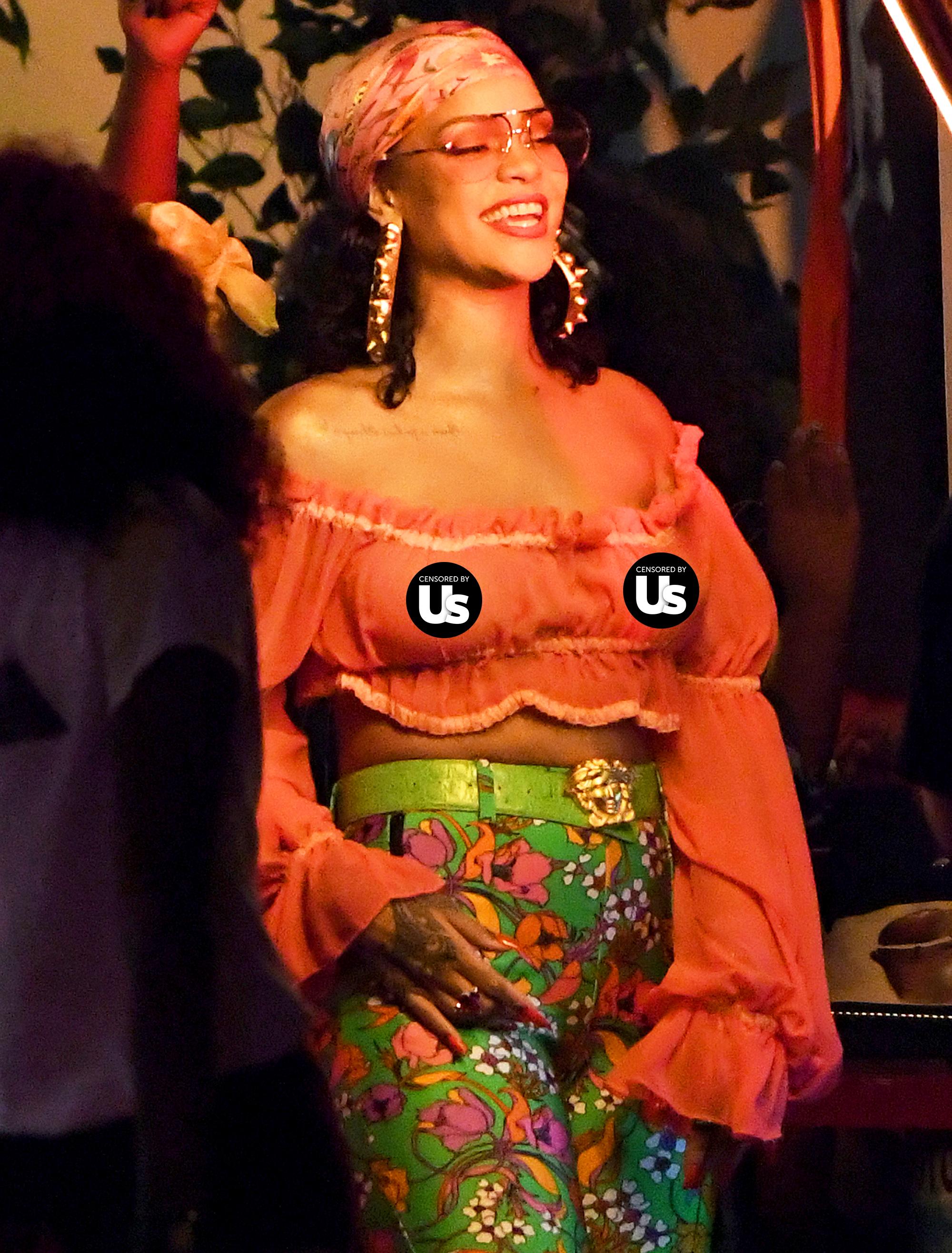 Rihanna Shows Off Nipple Piercing While Filming Dj Khaled Video