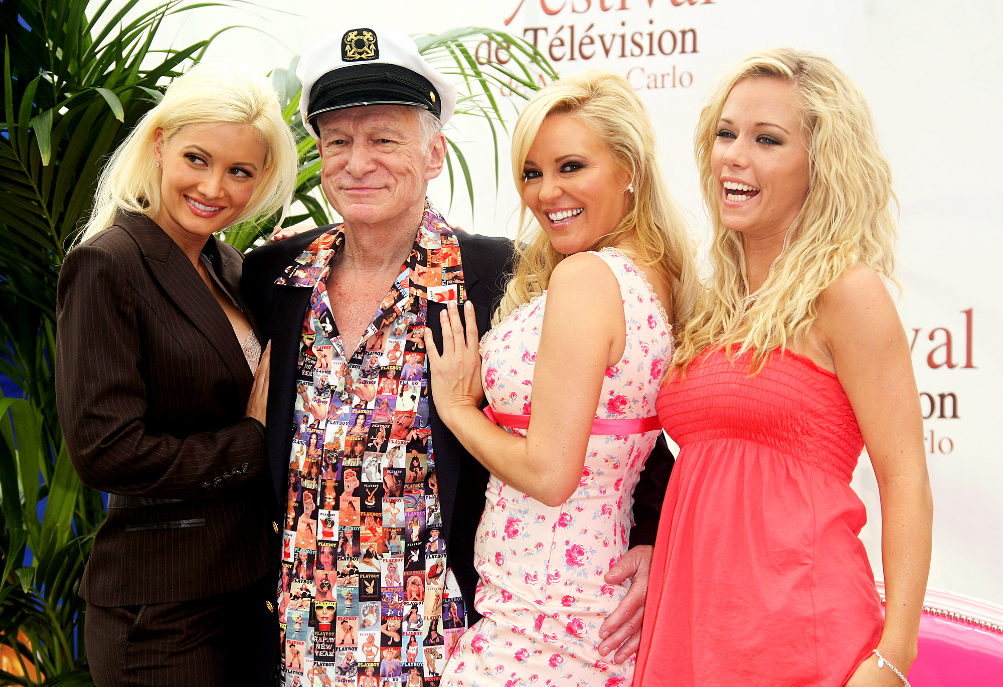 Holly Madison, Hugh Hefner, Bridget Marquardt and Kendra Wilkinson