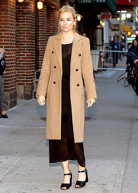 Sienna Miller - Camel Coat