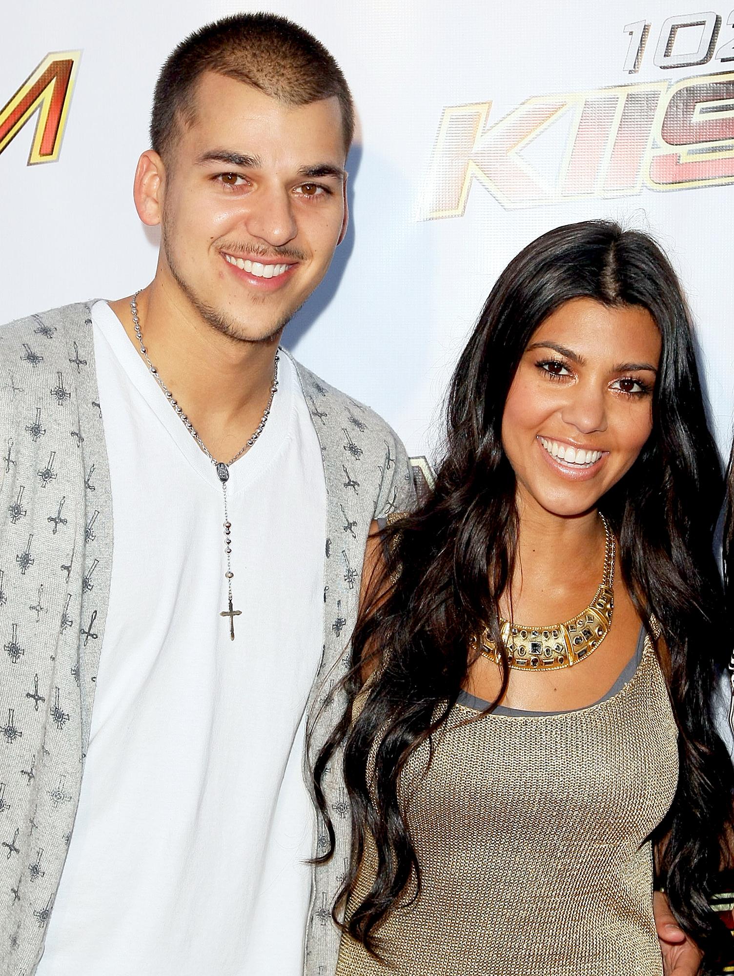 Rob Kardashian and Kourtney Kardashian