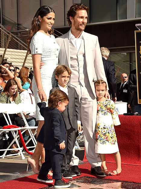 Matthew McConaughey and family - Walk of Fame