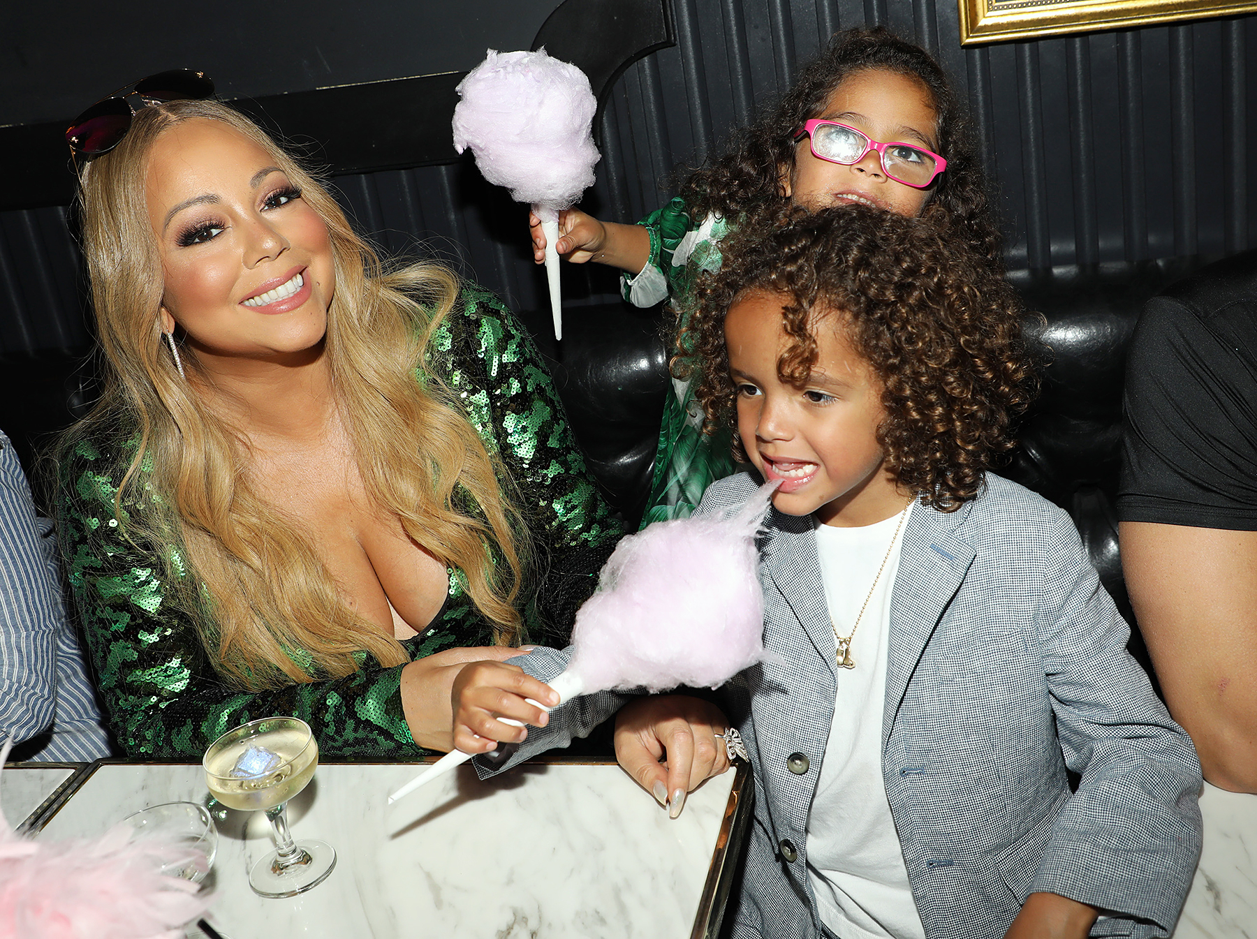 Mariah Carey and her children Moroccan and Monroe