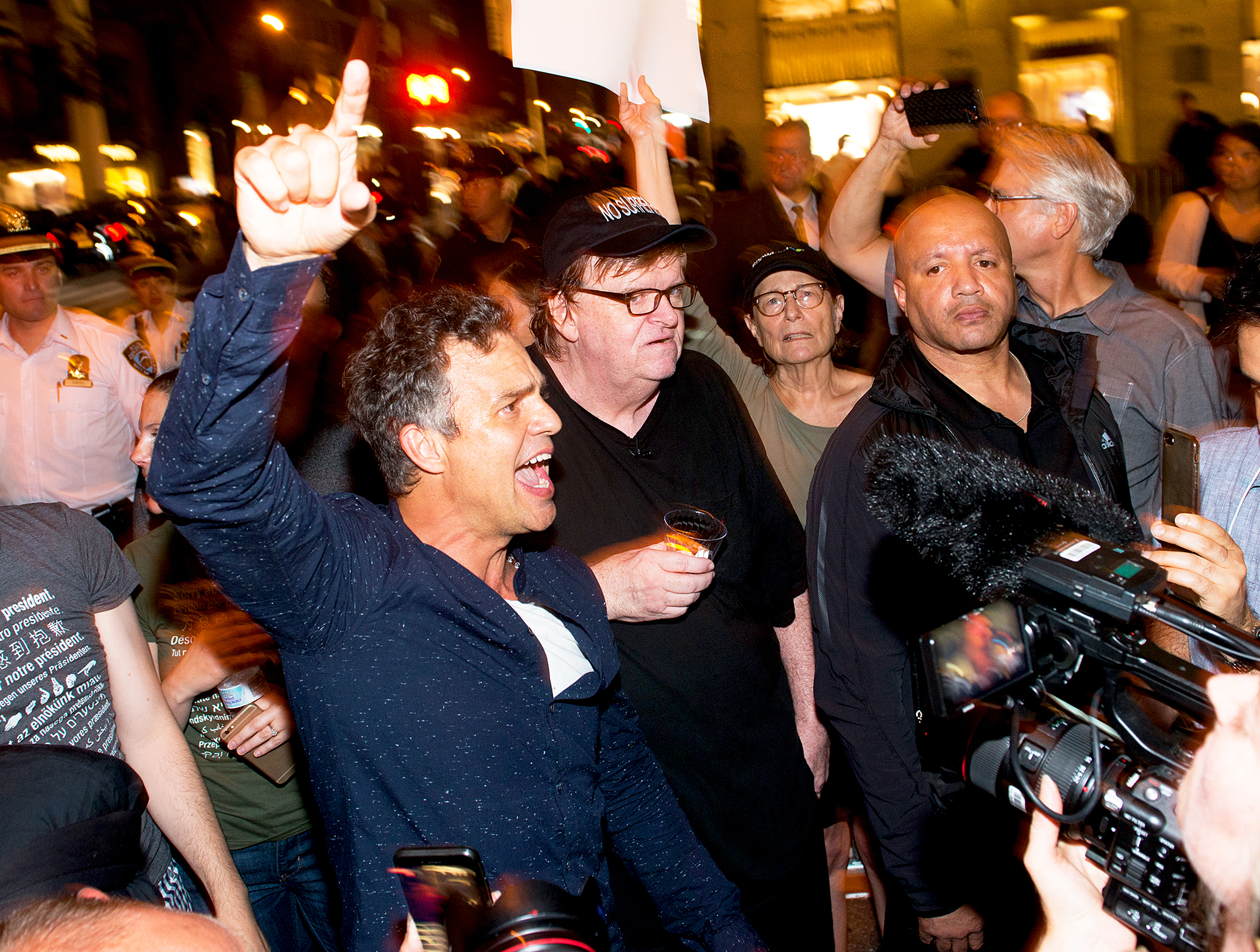 Mark Ruffalo and Michael Moore