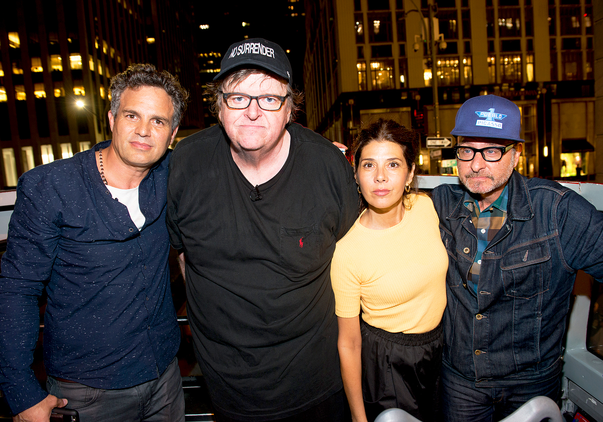 Mark Ruffalo, Marisa Tomei, Fisher Stevens and Michael Moore