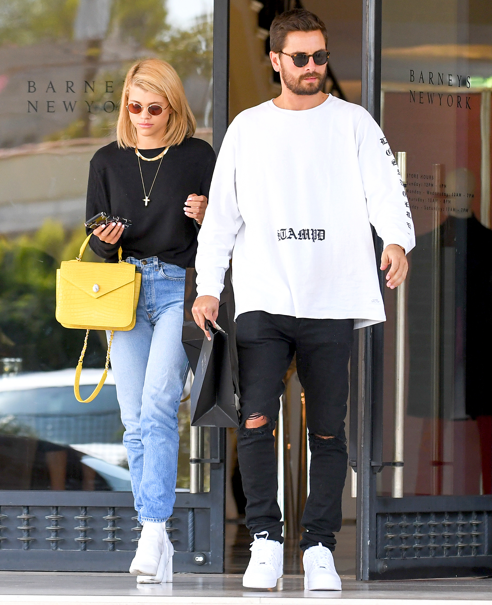 Sofia Richie and Scott Disick