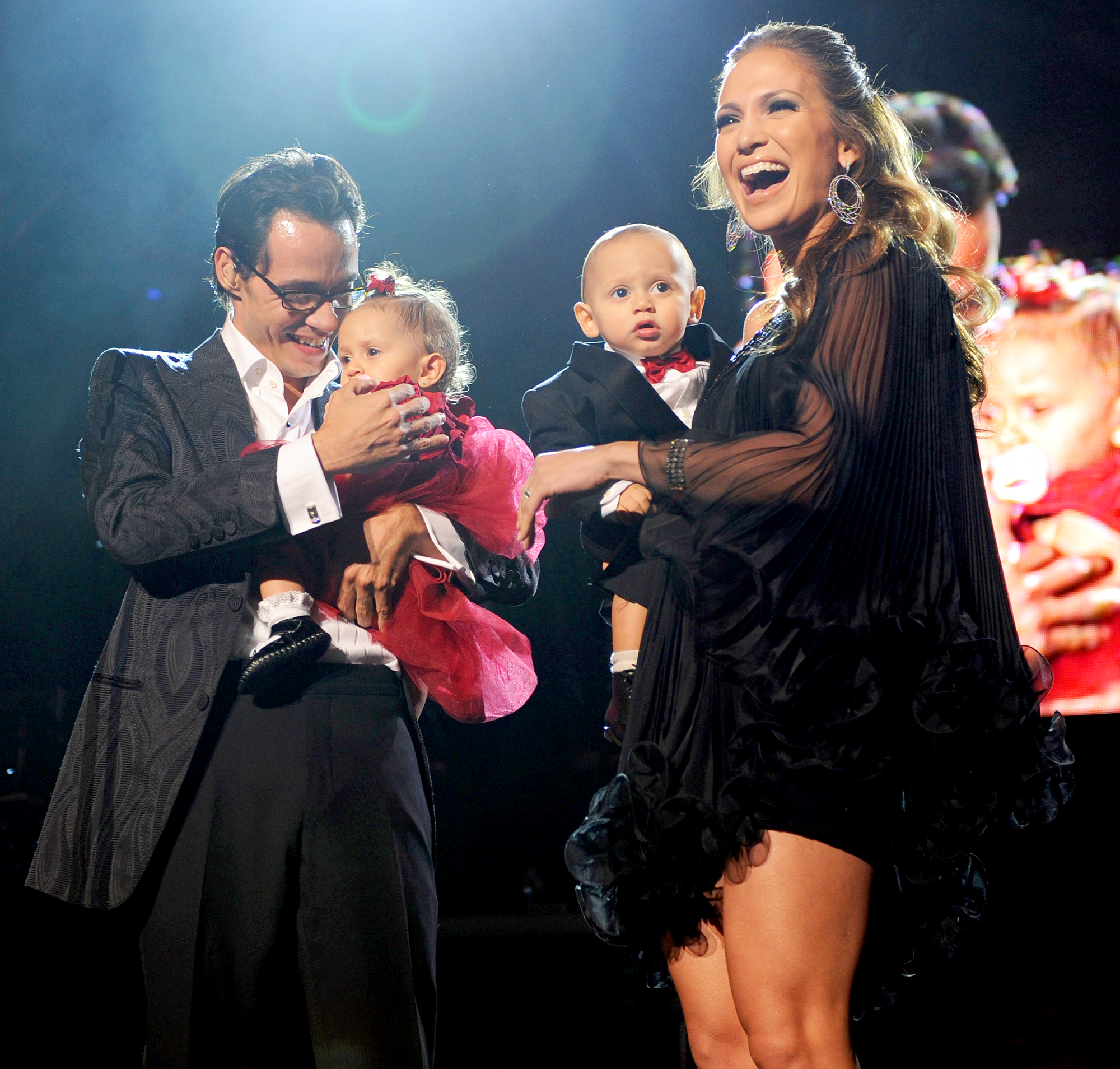 Marc Anthony, Jennifer Lopez, Max and Emme
