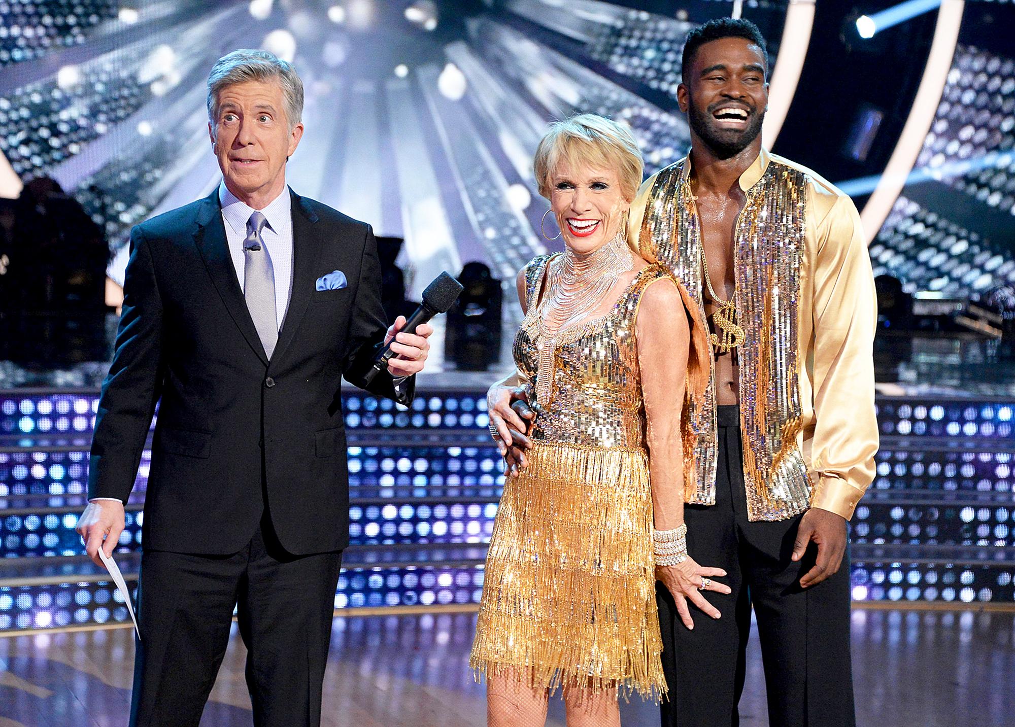 Tom Bergeron, Barbara Corcoran and Keo Motsepe Dancing With The Stars