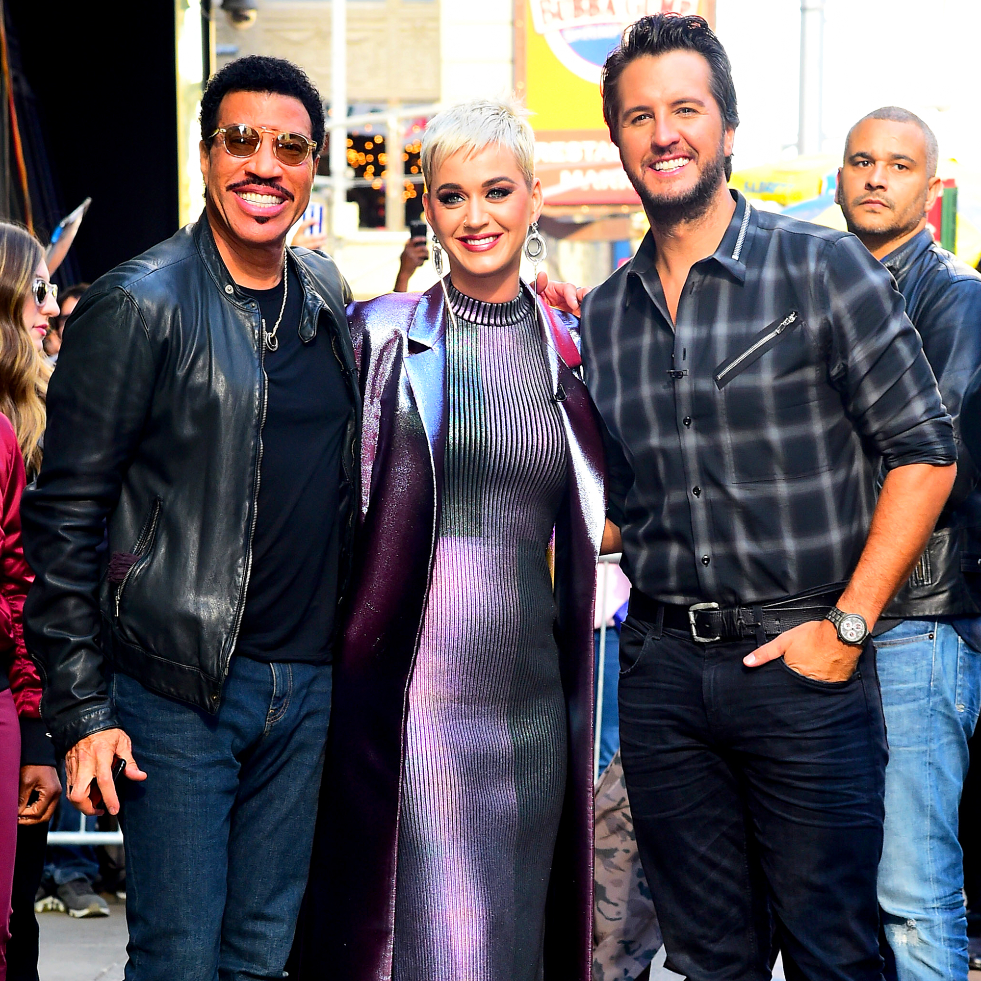 Lionel Richie, Katy Perry and Luke Bryan