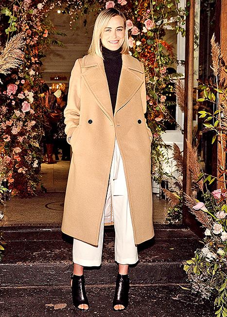 Taylor Schilling - Camel Coat